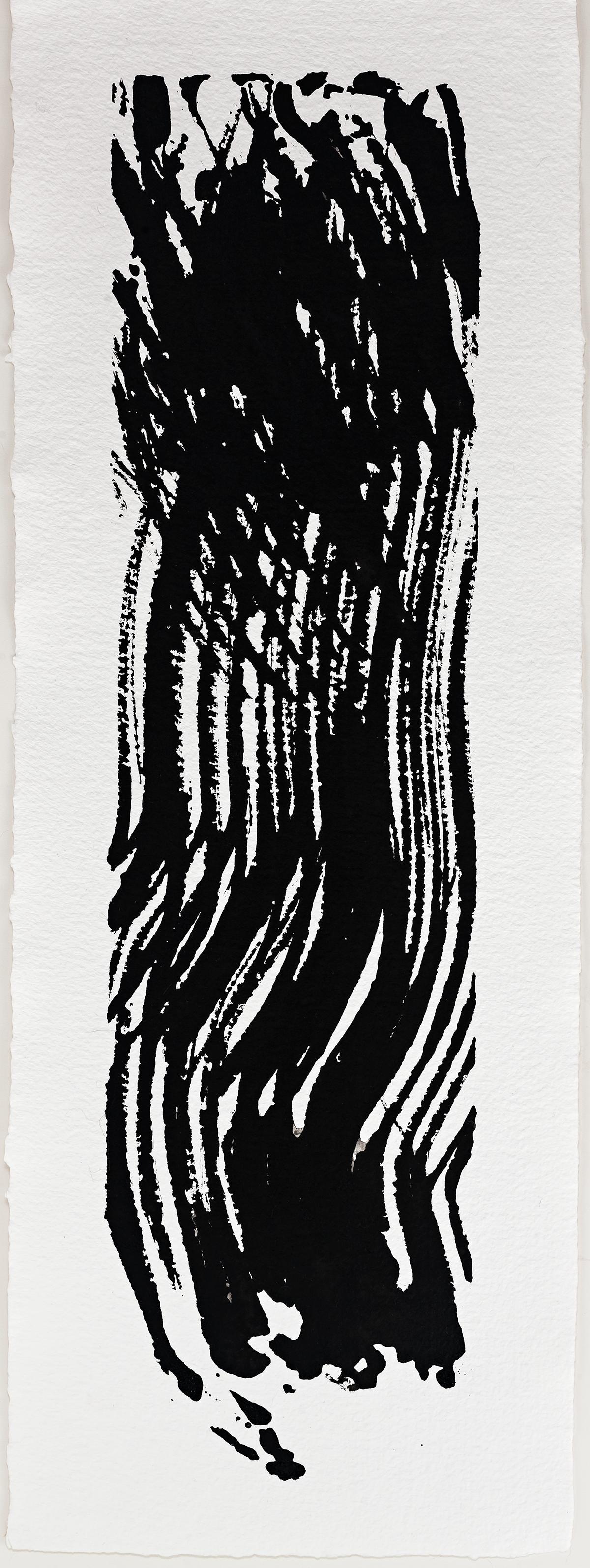 """Updraft II  2016  ink on paper  11 x 6"""""""