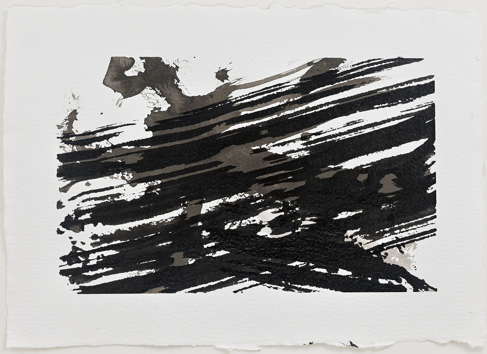 "Wind Shear  2016  inks on paper  7 x 9"""