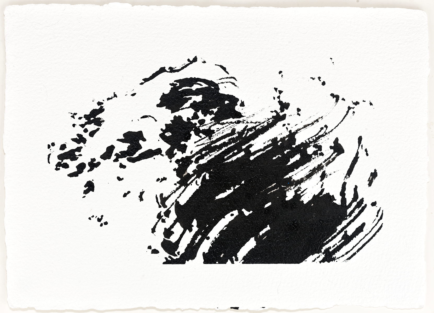 "Zephyr  2016  ink on paper  7 x 9"""