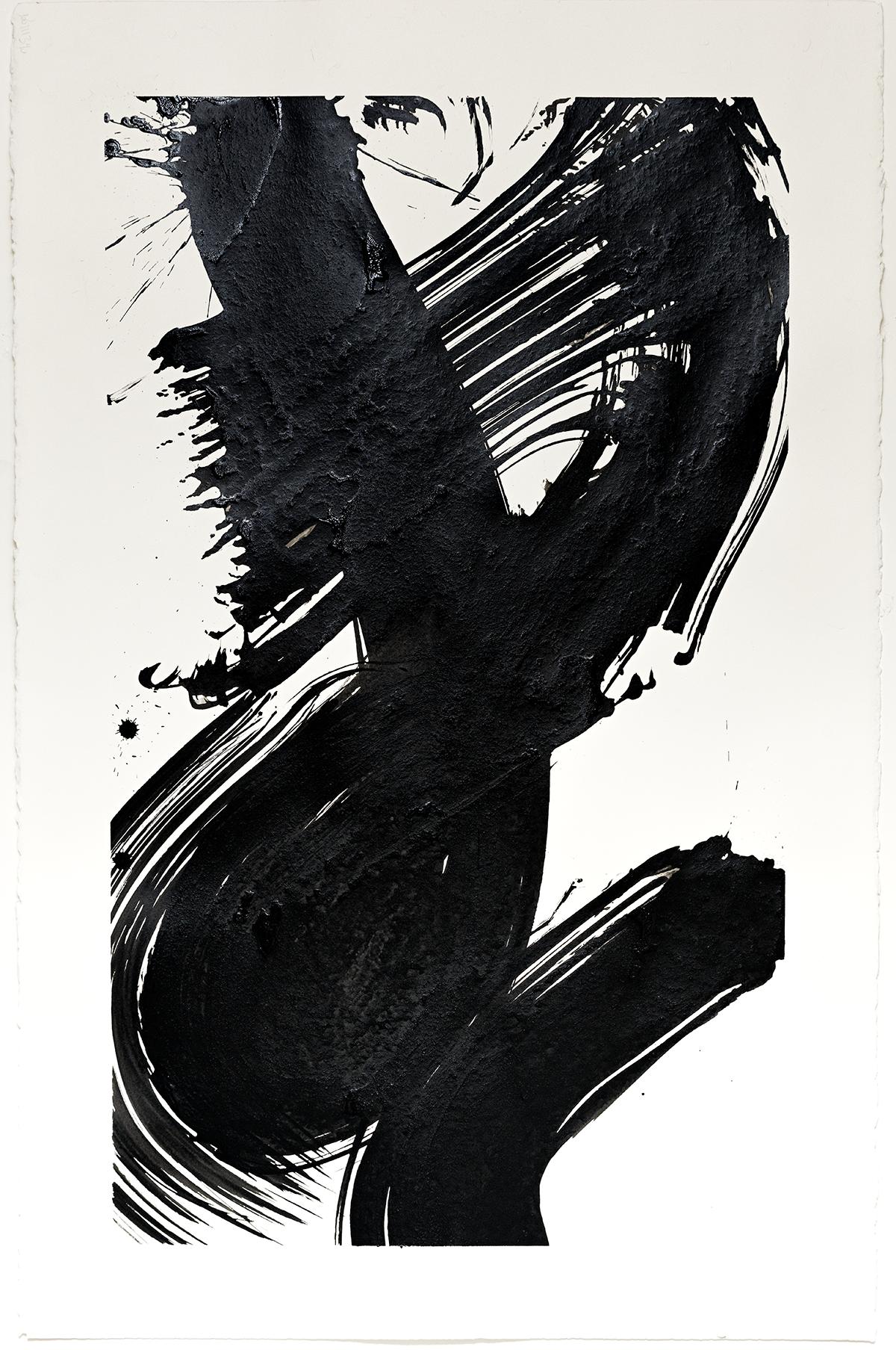 """Windblown  2016  ink on paper  40 x 26"""""""
