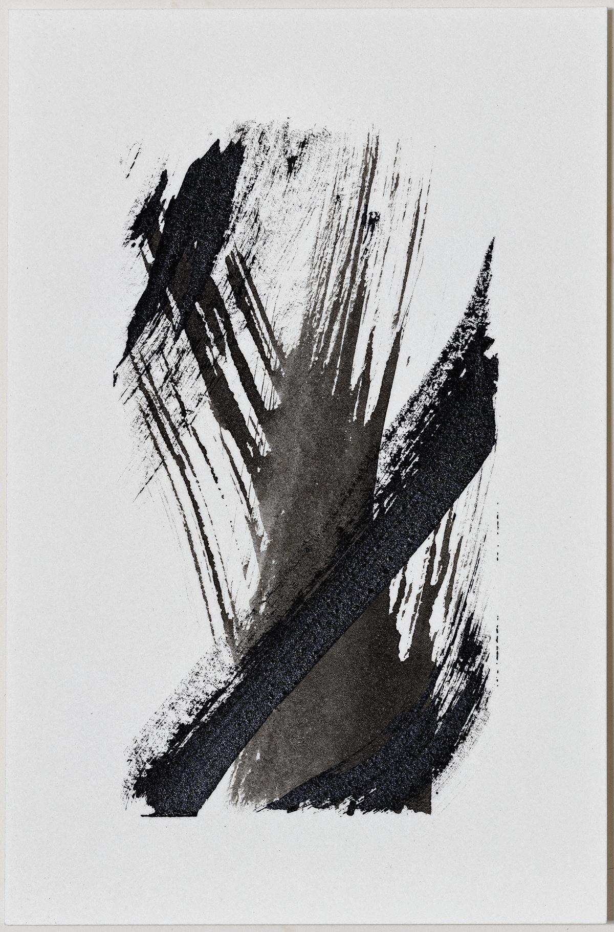 """Plummet  2016  ink on paper  6 x 4"""""""