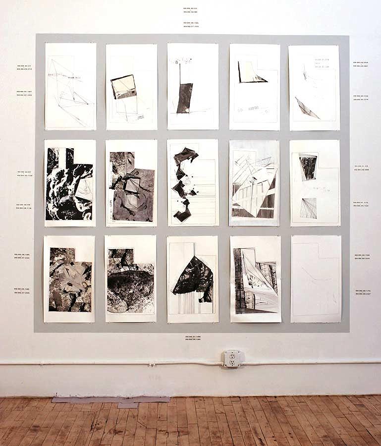 Studio Installation - Utah Drawings 2013