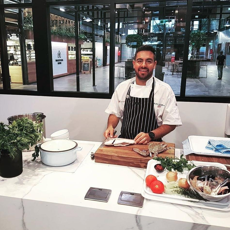 Matt Rothman - Matt has his focus on bringing the best of local and seasonal produce, working with farmer direct from small growers to cook local and maximise sustainability. He's also the creator of the Hands Lane Food company.