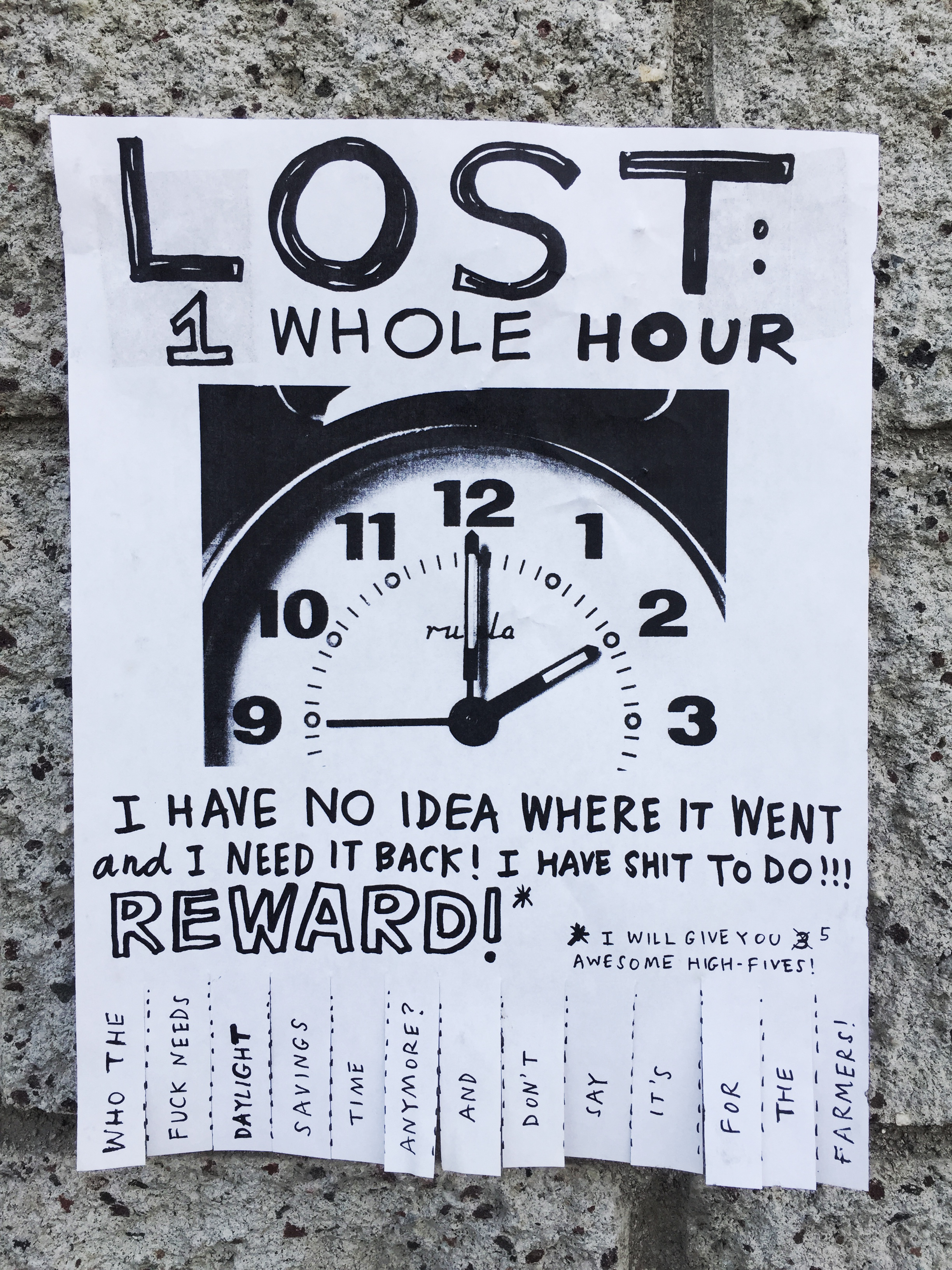 LOST: 1 WHOLE HOUR