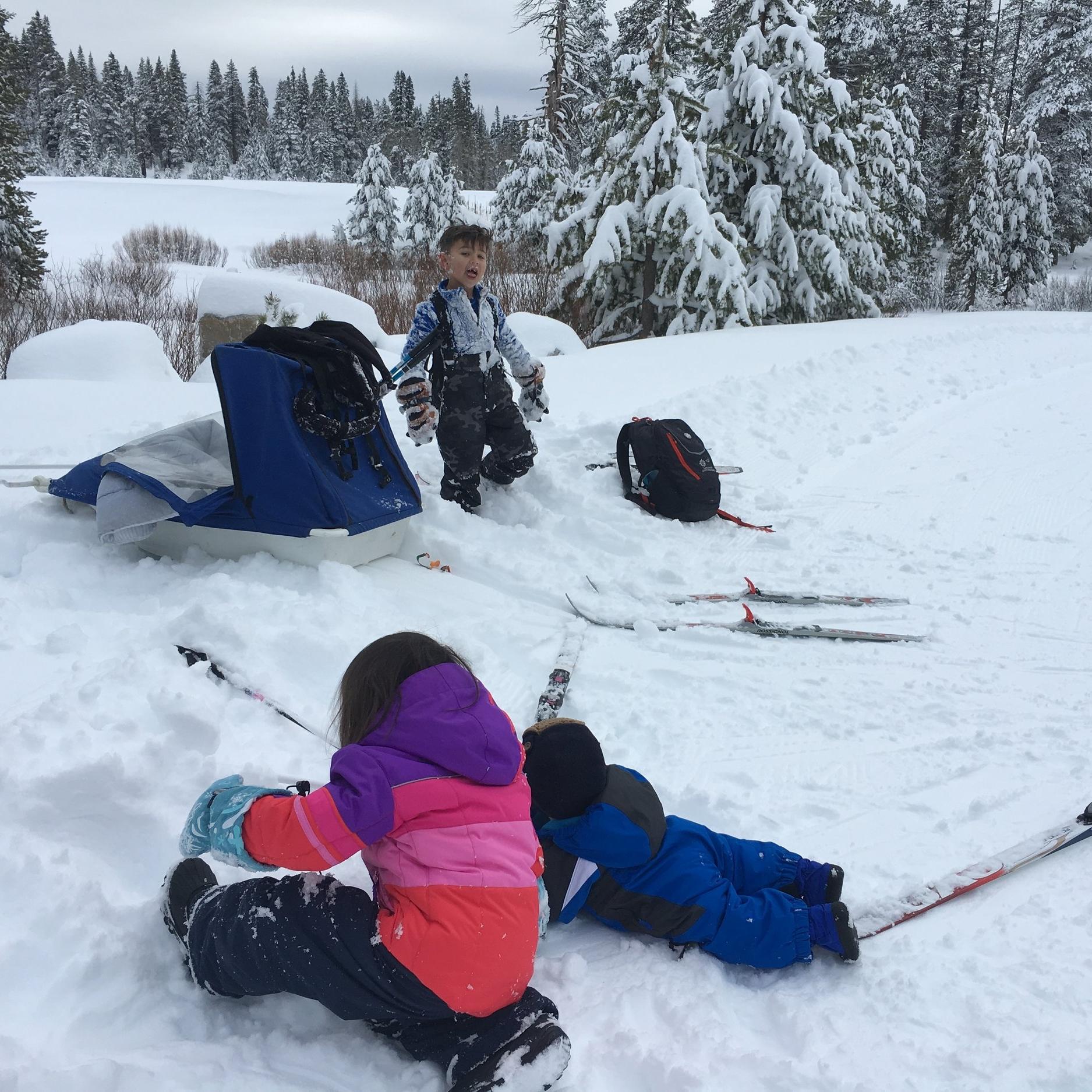 SNOW!!! My poor snow-deprived children.