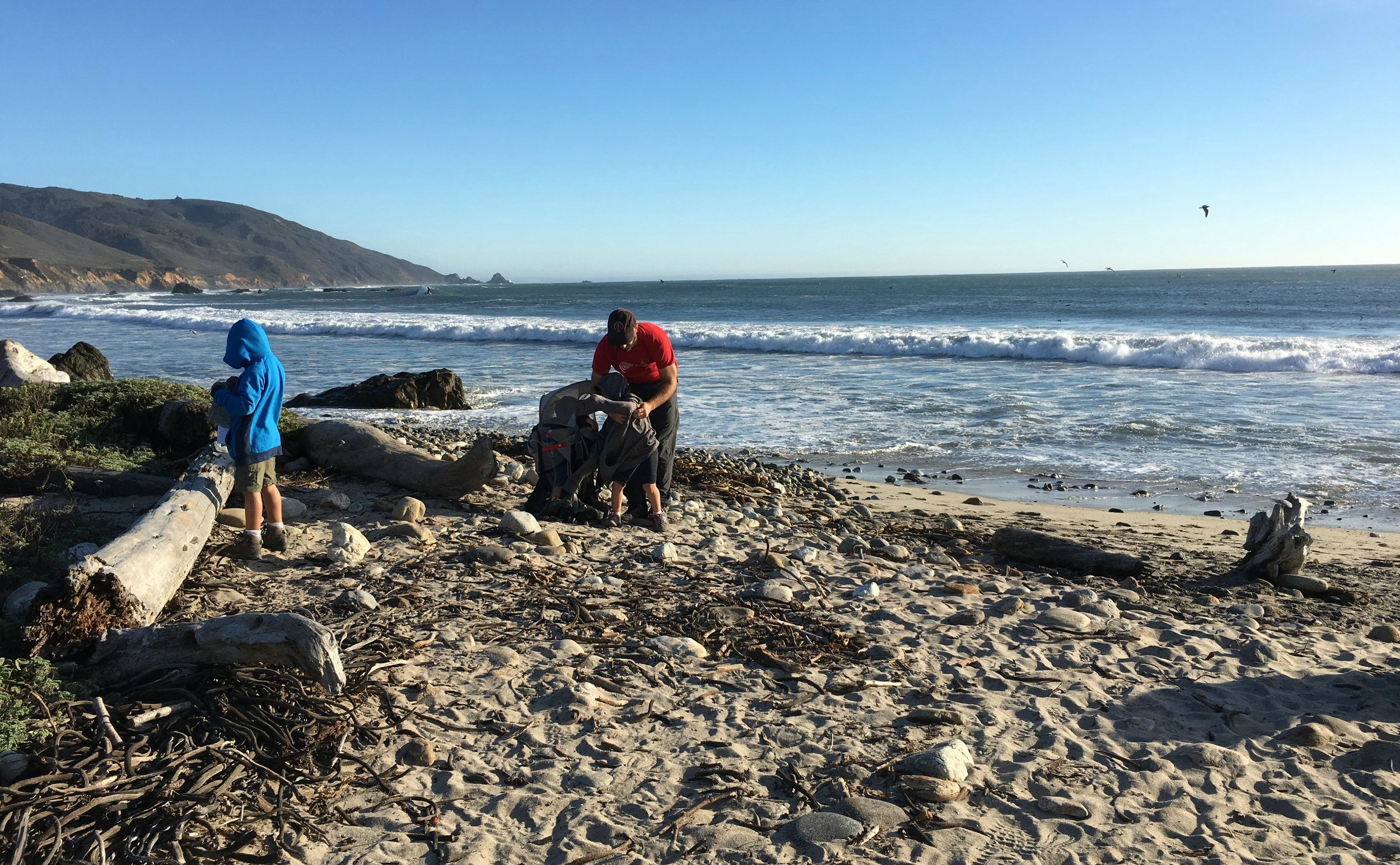 Beach day in the middle of Fall at Andrew Molera State Park - Bring a sweater!