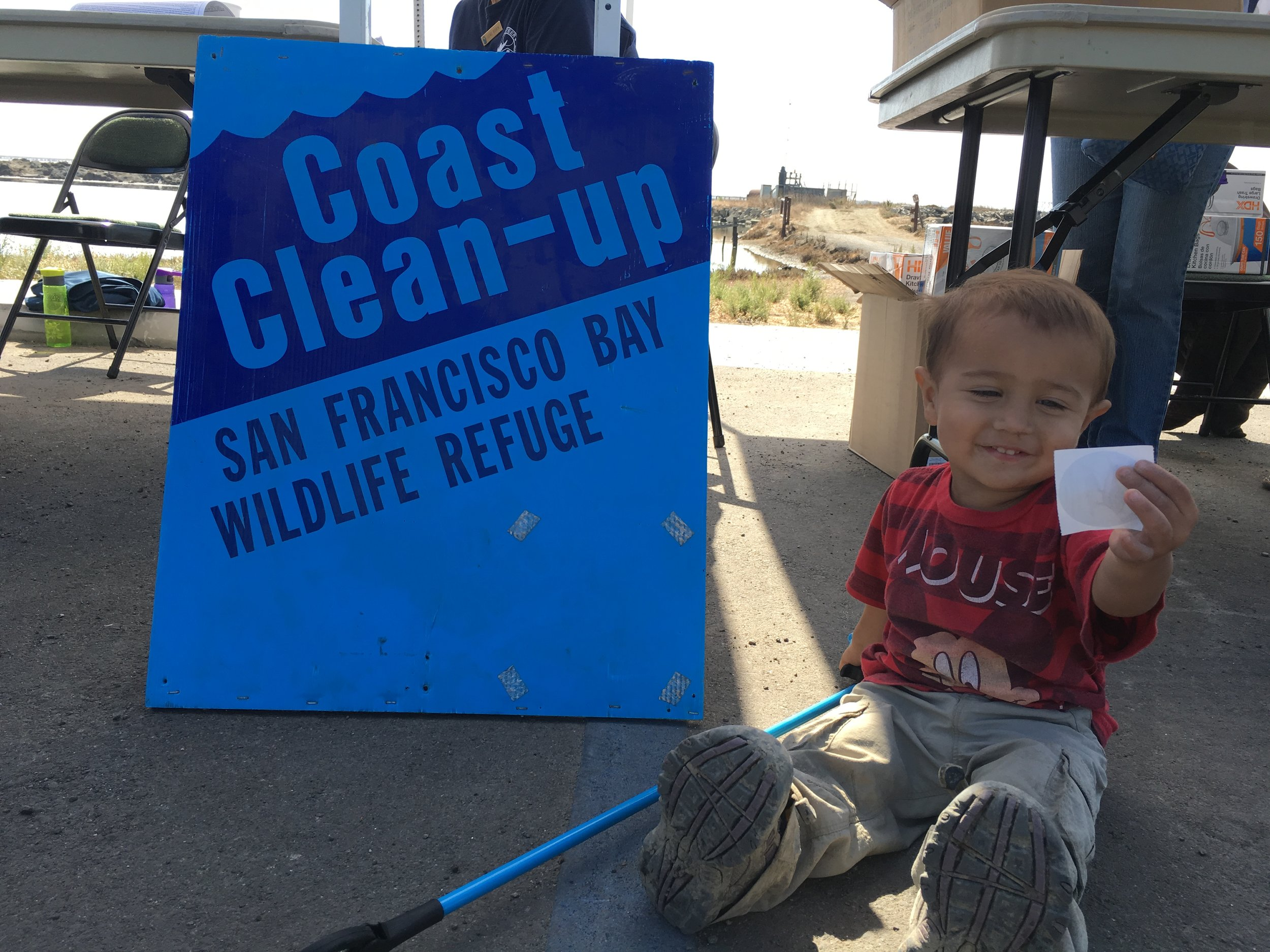 Pacha approves of Coastal Clean-Ups!