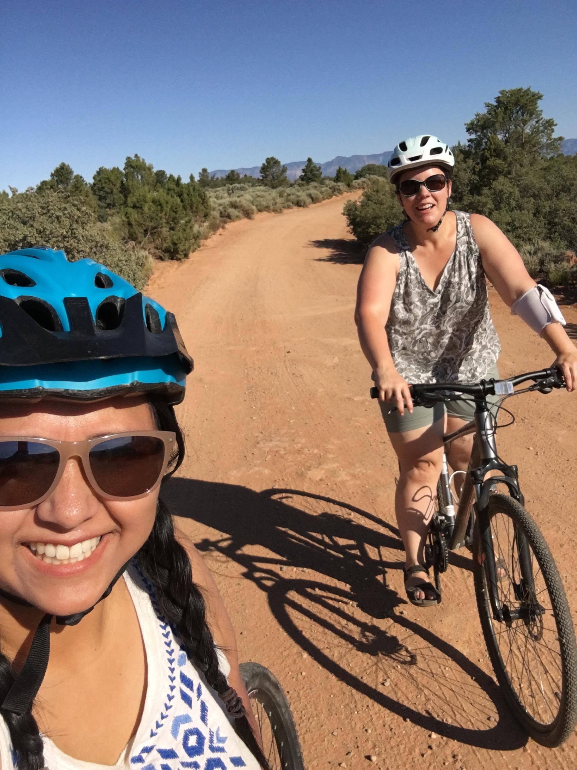 Mom's escape to bike!