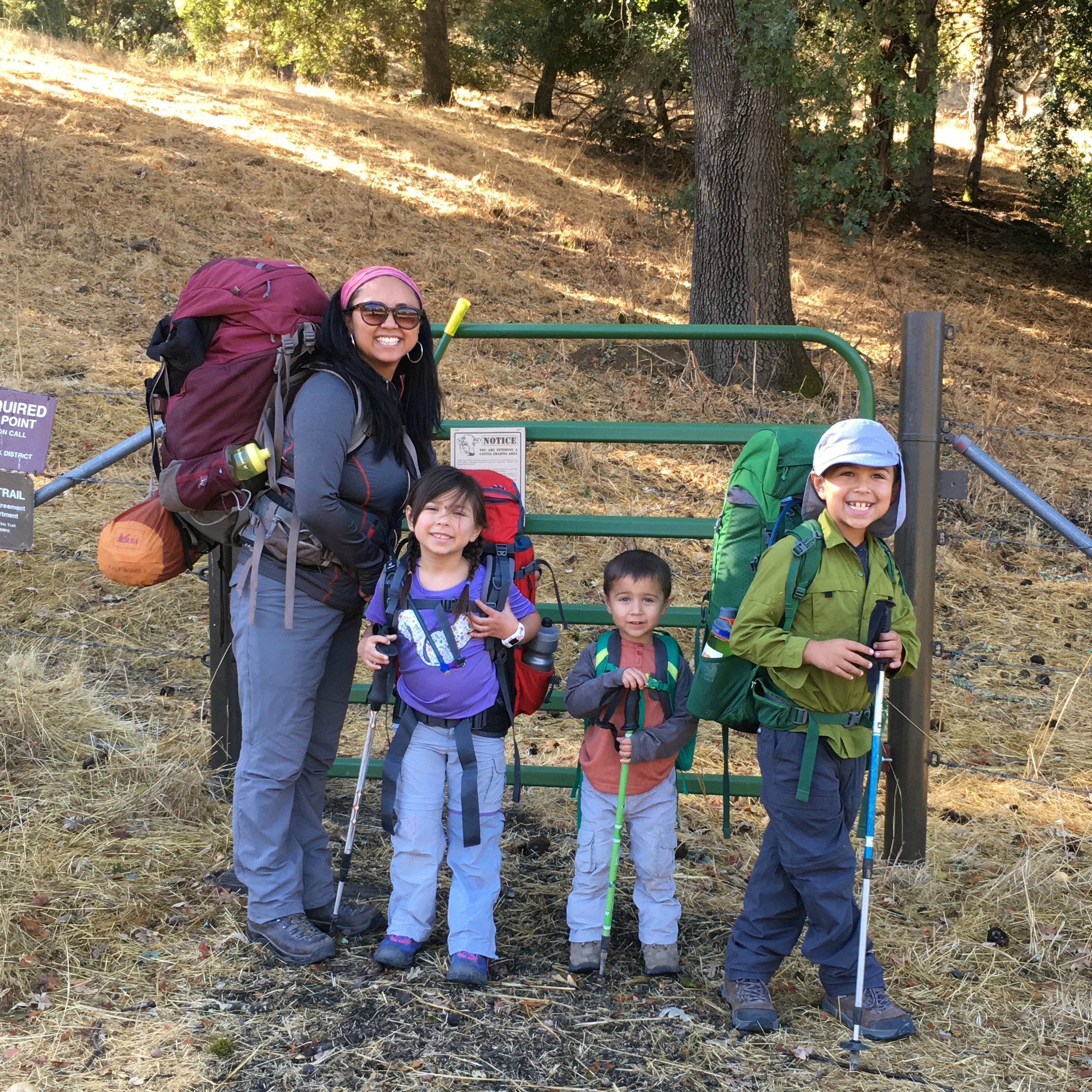 Getting ready to start on the Ohlone Wilderness!