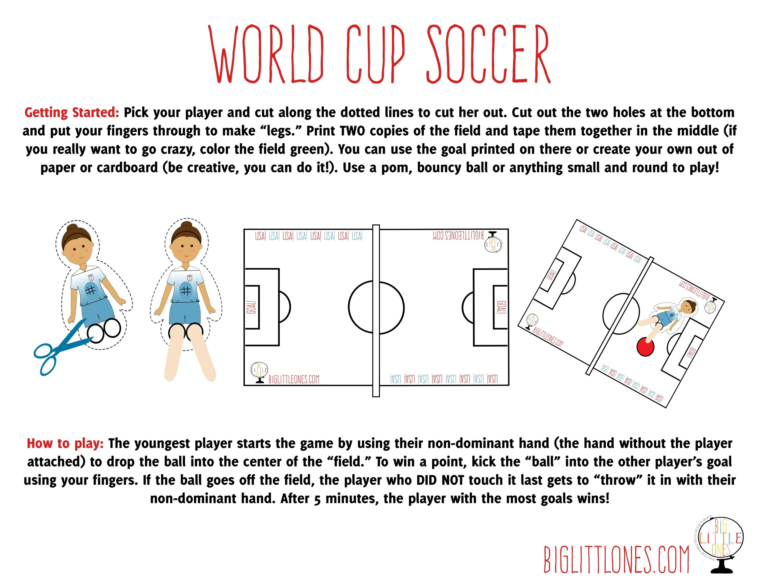 GOAL! Download a FREE World Cup Soccer game to play with your future soccer star!