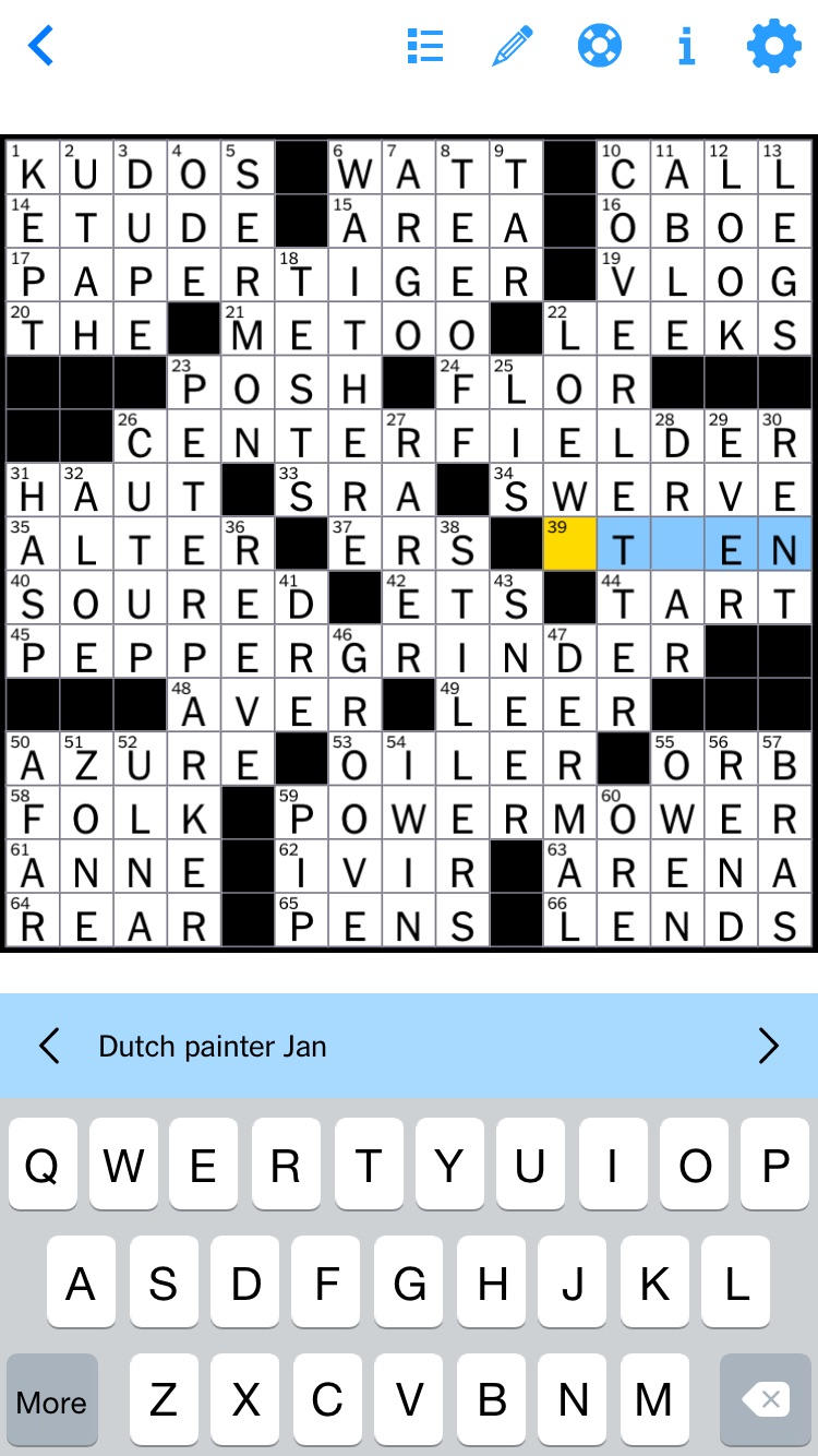 """The answer was """"Steen,"""" by the way. And I made another mistake: 54 down was """"I won,"""" not """"I win."""""""