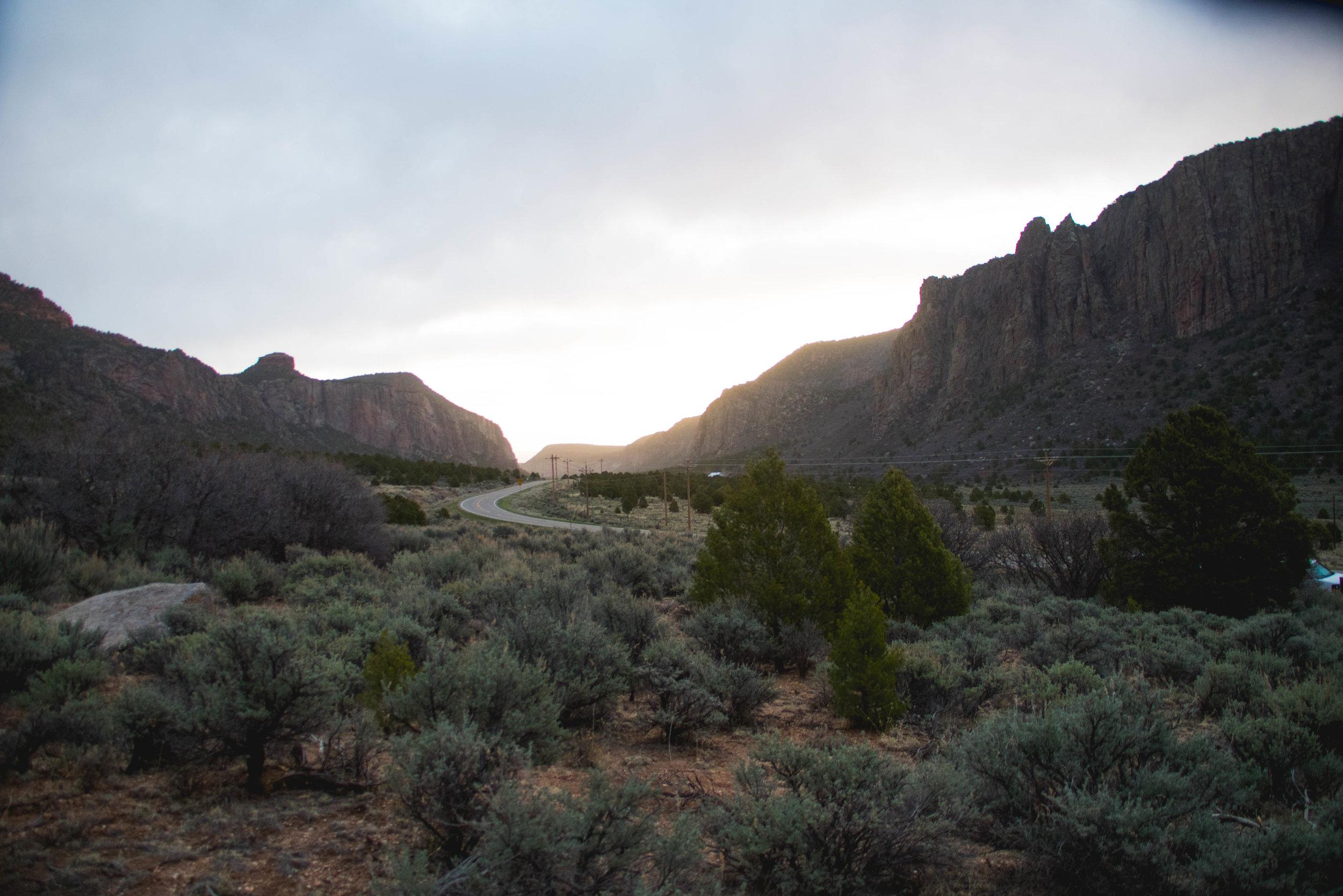 Morning in Unaweep Canyon, Colorado.