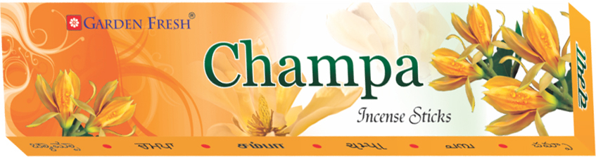 Champa - Also known as Champak, this flower is is known for its rare and strong fragrance. Garden Fresh brings to you a refreshing and relaxing Champa fragrance that will definitely leave an impression.Net weight: 20 grams