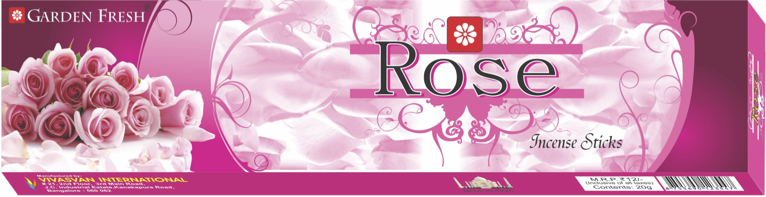 ROSE - Rose is one of the world's most valued fragrances. Enjoy this complex and sweet floral aroma that will uplift your mood.Net weight: 20 grams
