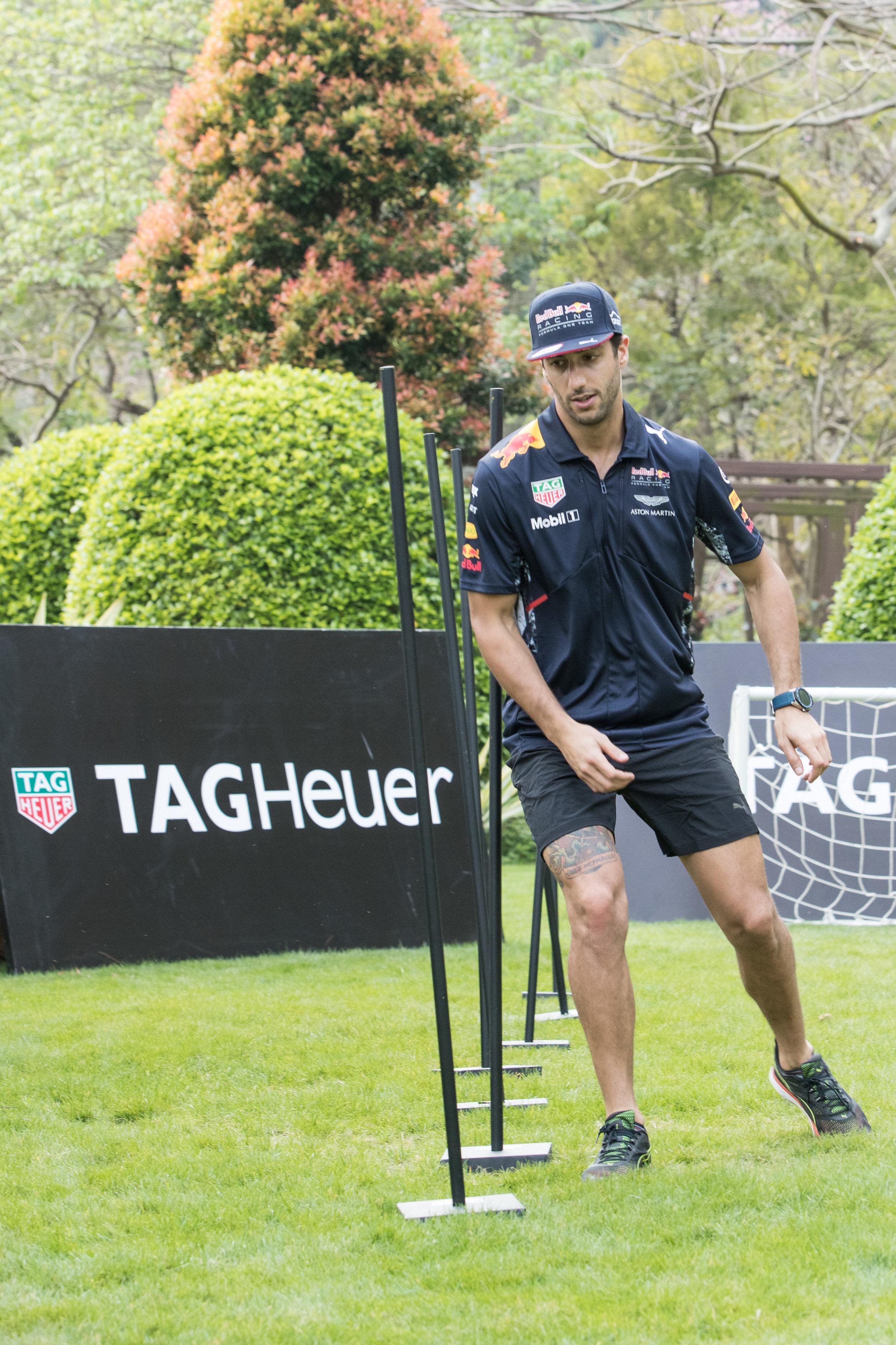 TAG Heuer. Rugby 7s Hong Kong. Daniel Ricciardo