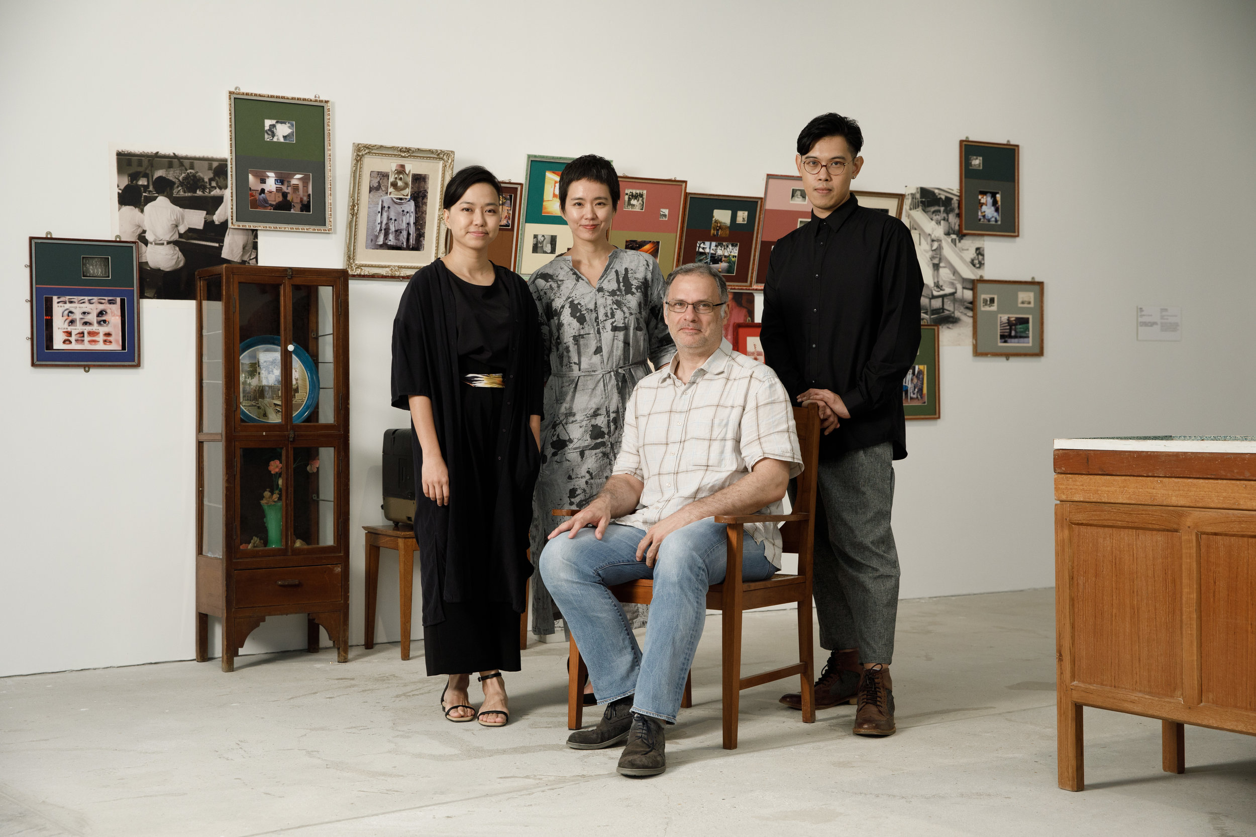 Frank Vigneron, Yim Sui Fong 嚴瑞芳, Eddie Cheung 張煒森, Wendy Wo 胡敏儀. Tai Kwun Exhibition. Hong Kong. 2018