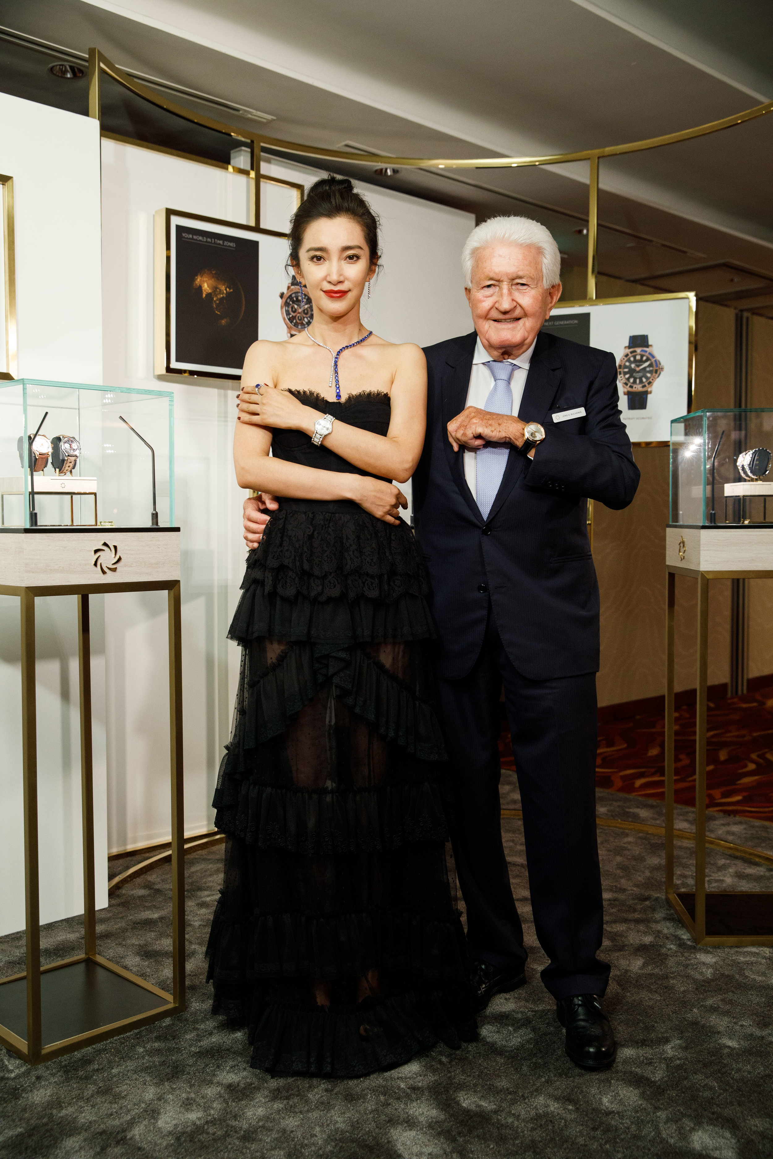 Li BingBing and Jörg G. Bucherer. Carl F. Bucherer 'Distinct Moment'. Hong Kong. 2018