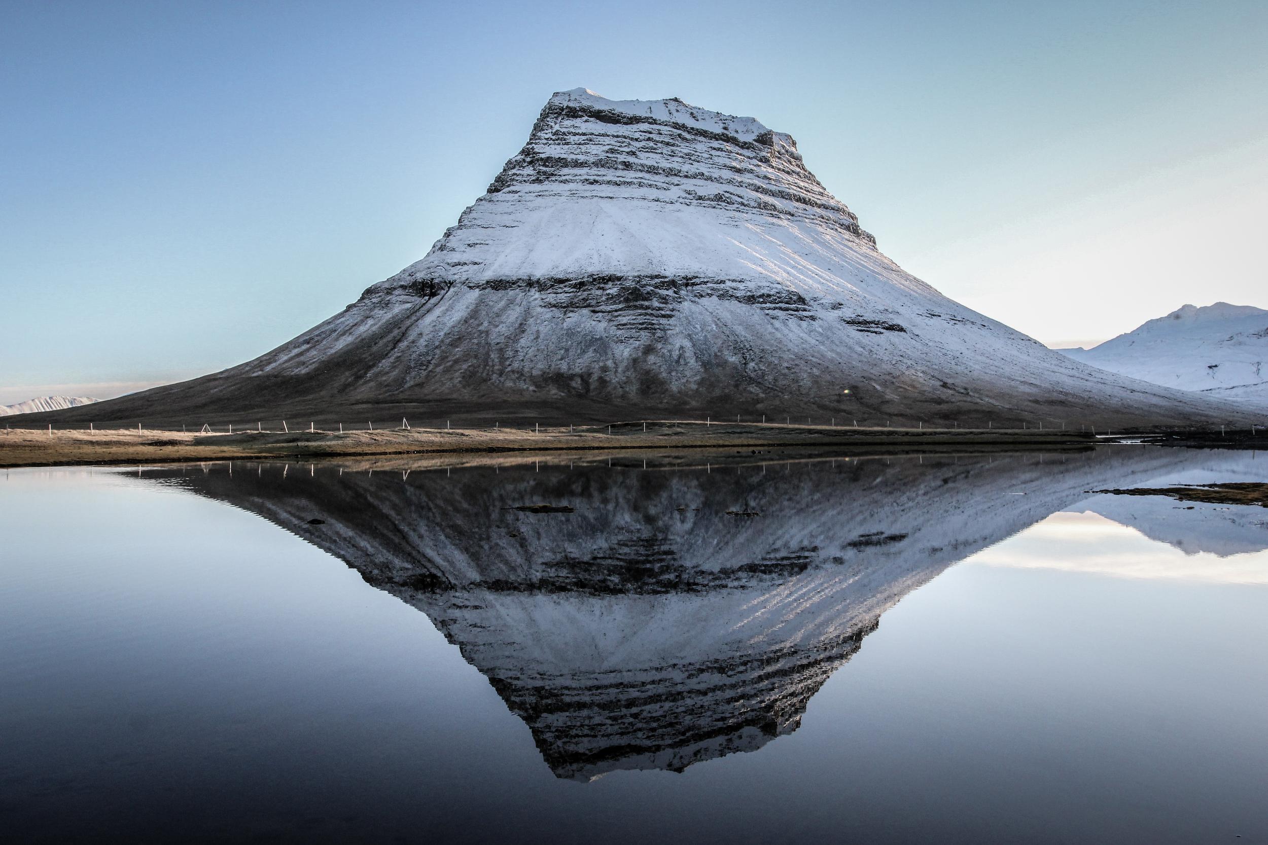 Mount Kirkjufell in Winter