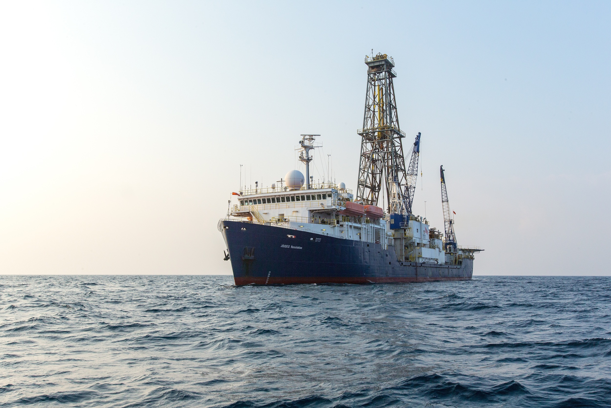 The Joides REsolution - IODP research vessel Image Credit: William Crawford IODP/TAMU