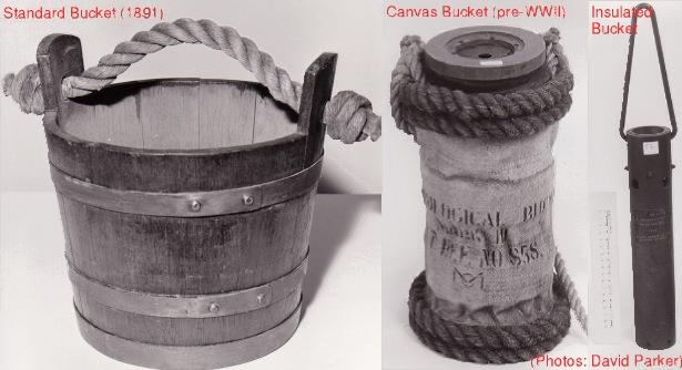 Evolving bucket technology - for 100 years buckets like this were used to take measurements of sea surface temperature ( see here for more )