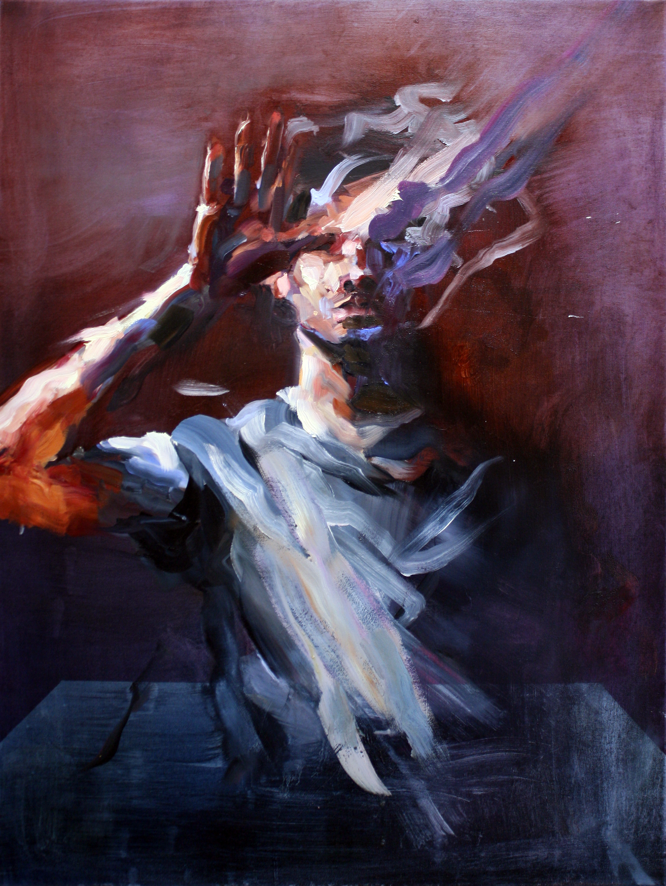 "Dissident 1, oil on linen, 39.25""X29.5"", 2016 (sold)"