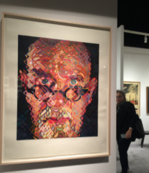 "Chuck Close, ""Self-Portrait II"", 2010, Oil on Canvas"