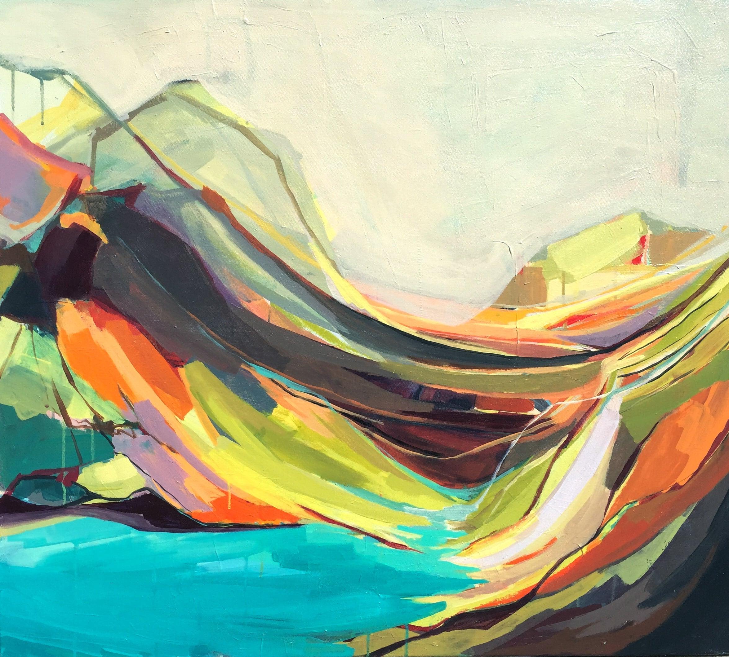 """Mount Desert Isle,"" Amanda Hawkins, Acrylic on canvas.34x36 in.  Photo courtesy of http://www.amandakhawkins.com/"