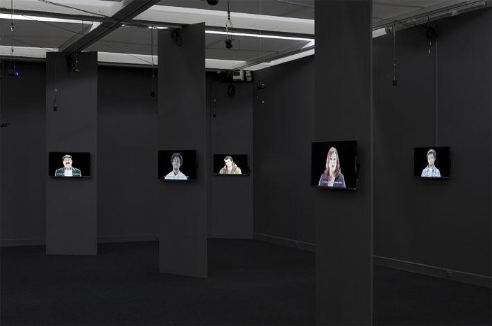 Joana Hadjithomas & Khalil Joreige,  The Rumor of the World , 2014 Video installation, 23 screens, 100 loudspeakers, 38 HD films variable lengths Photo courtesy of Villa Arson, Nice, France Image Courtesy of MIT List Visual Arts Center