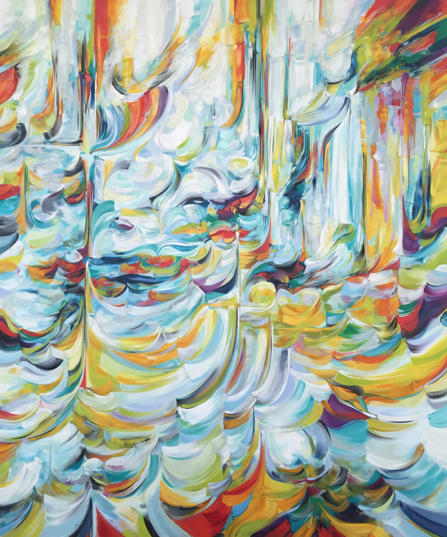 Portal II (2015) Oil on canvas with white maple float frame 72 x 60 in