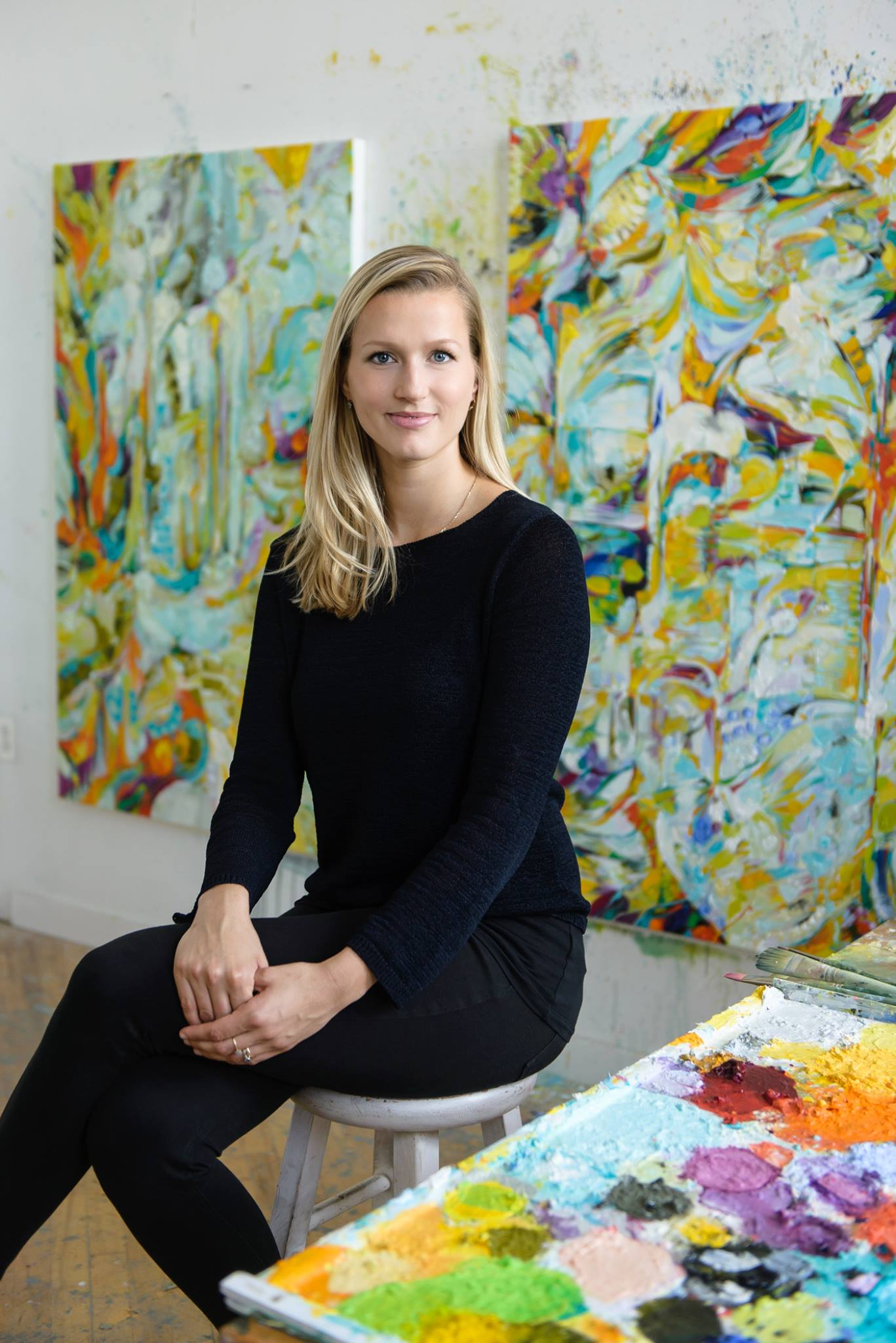 Wróbel in her studio in Somerville
