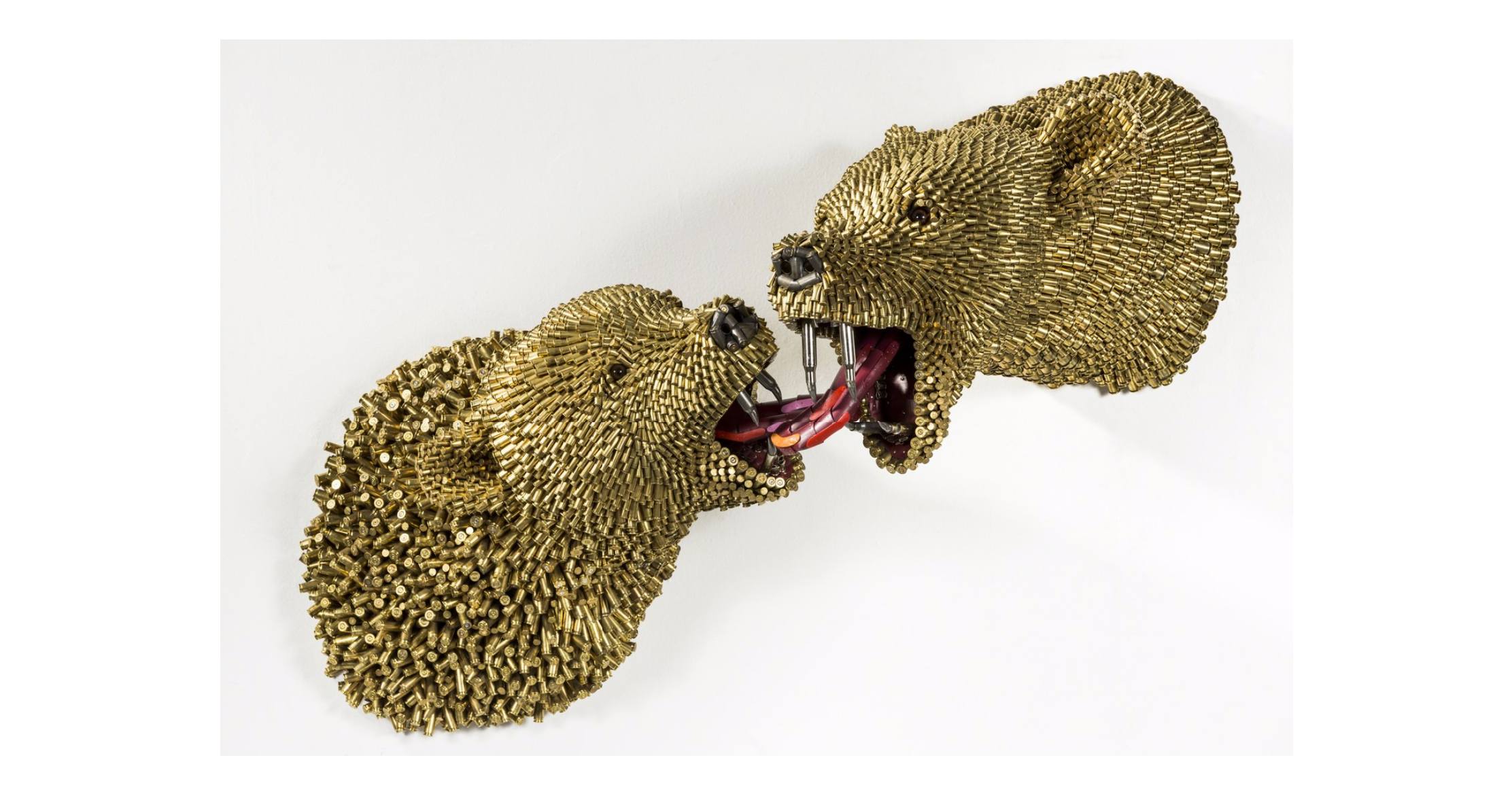 Dangerous Love , 2015 Federico Uribe Adelson Galleries Bullet shells 38 × 20 × 17 in