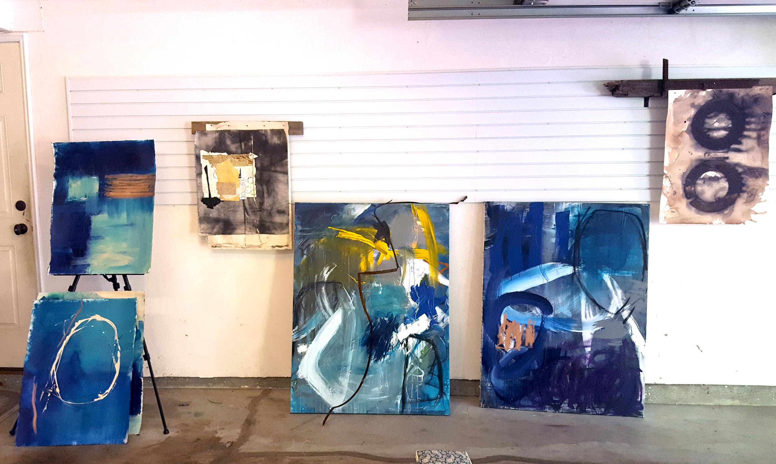 Caron Tabb's studio in Newton, MA