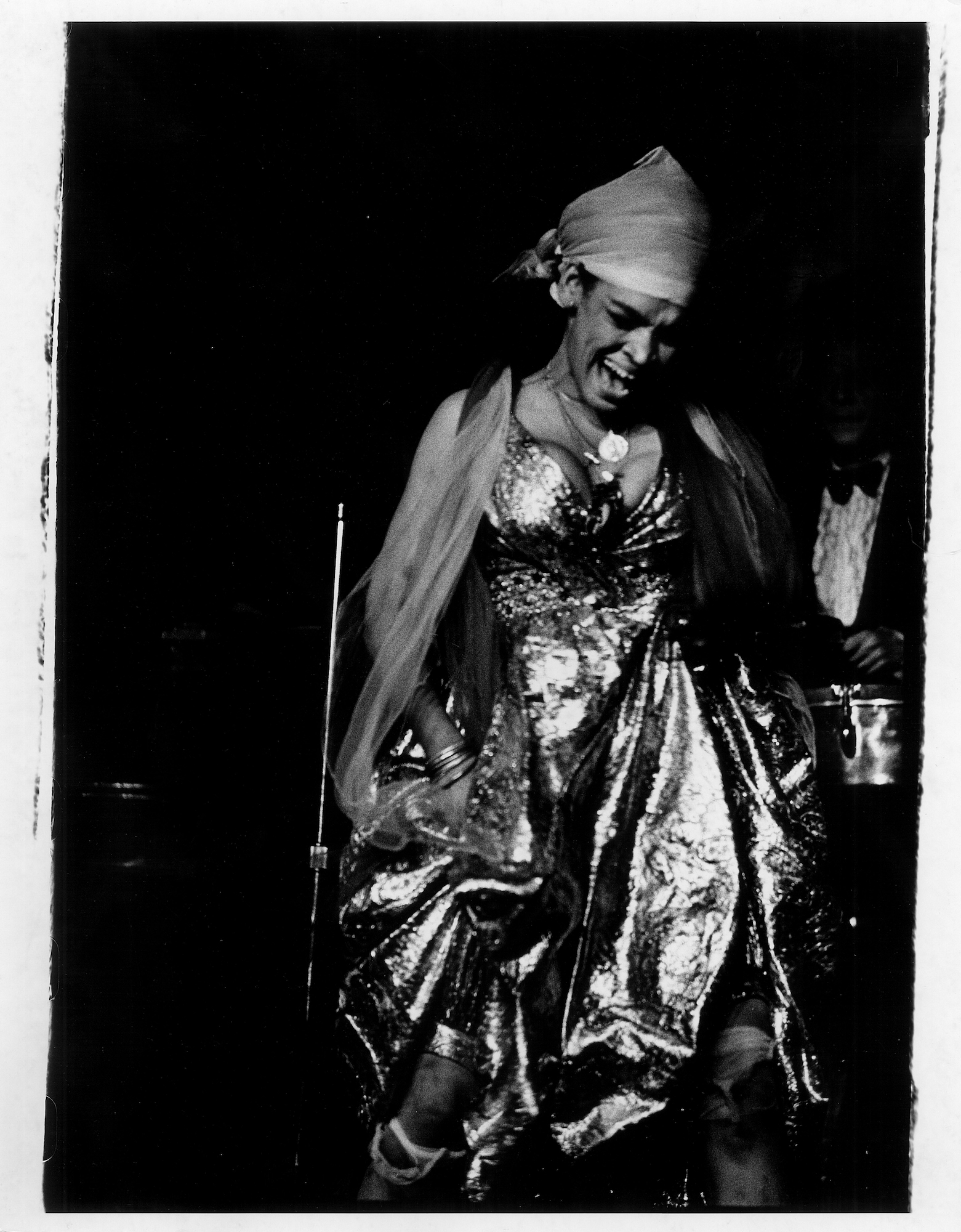 Cuban singer La Lupe performing in New York City, 1970. Gelatin silver print. Gift of Katherine Hall Page (Class of 1969)  Image courtesy of Wellesley College