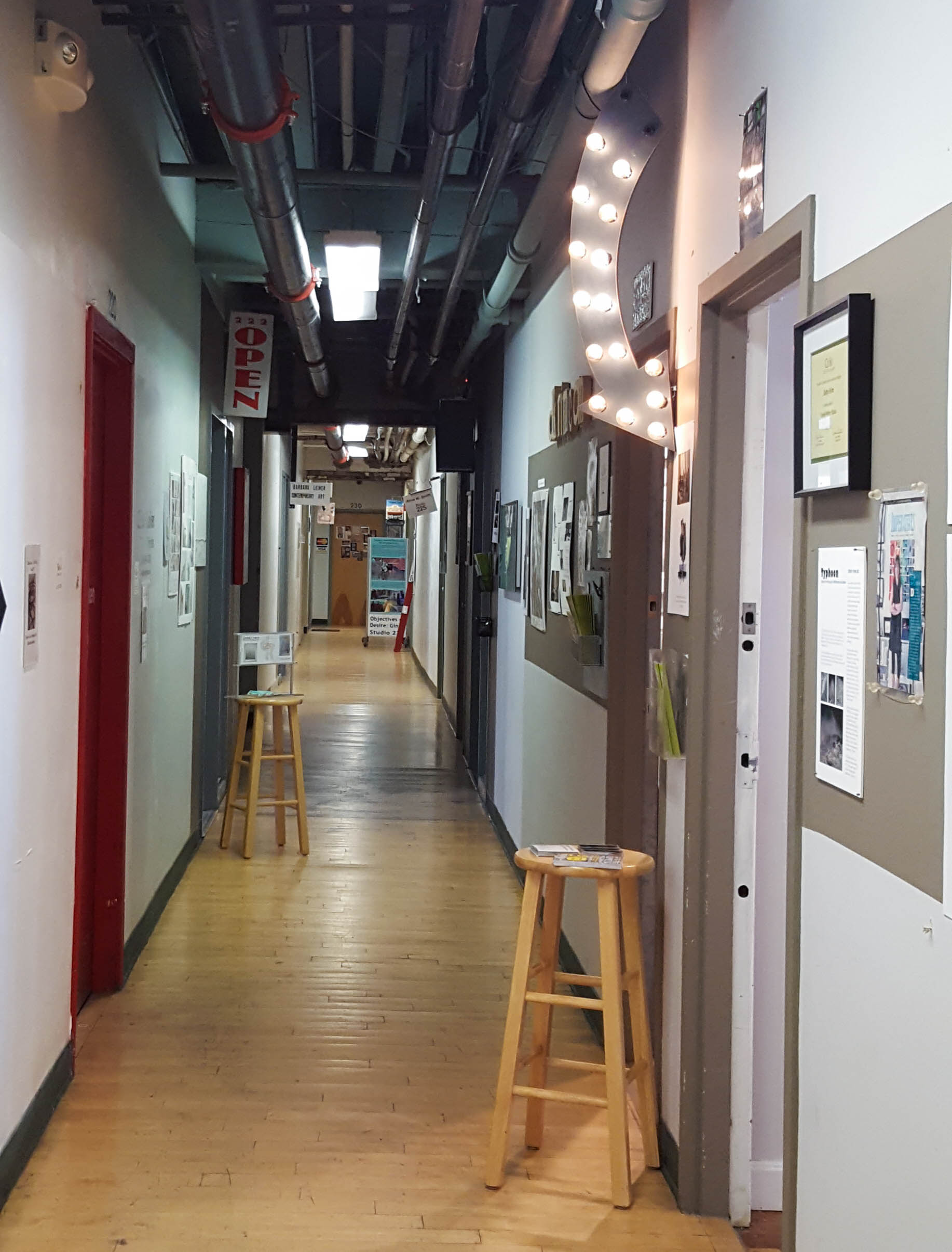Inside the 450 Harrison Ave studios