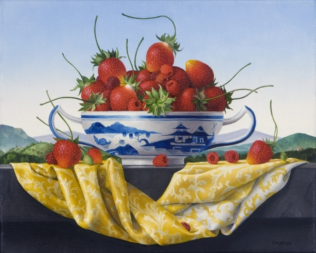 Still Life with Berries in a Canton Bowl