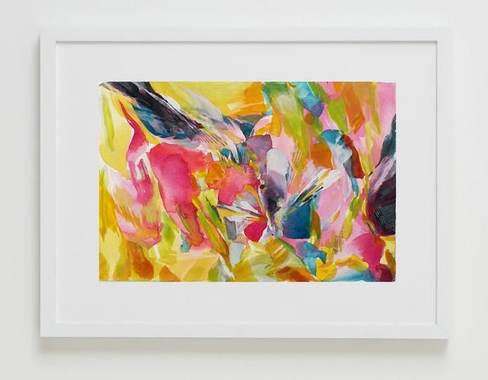 Kwait (Flower),  2016  Natalia Wróbel Watercolor on handmade Italian paper 4.5 x 6.75 in. $275 (framed)