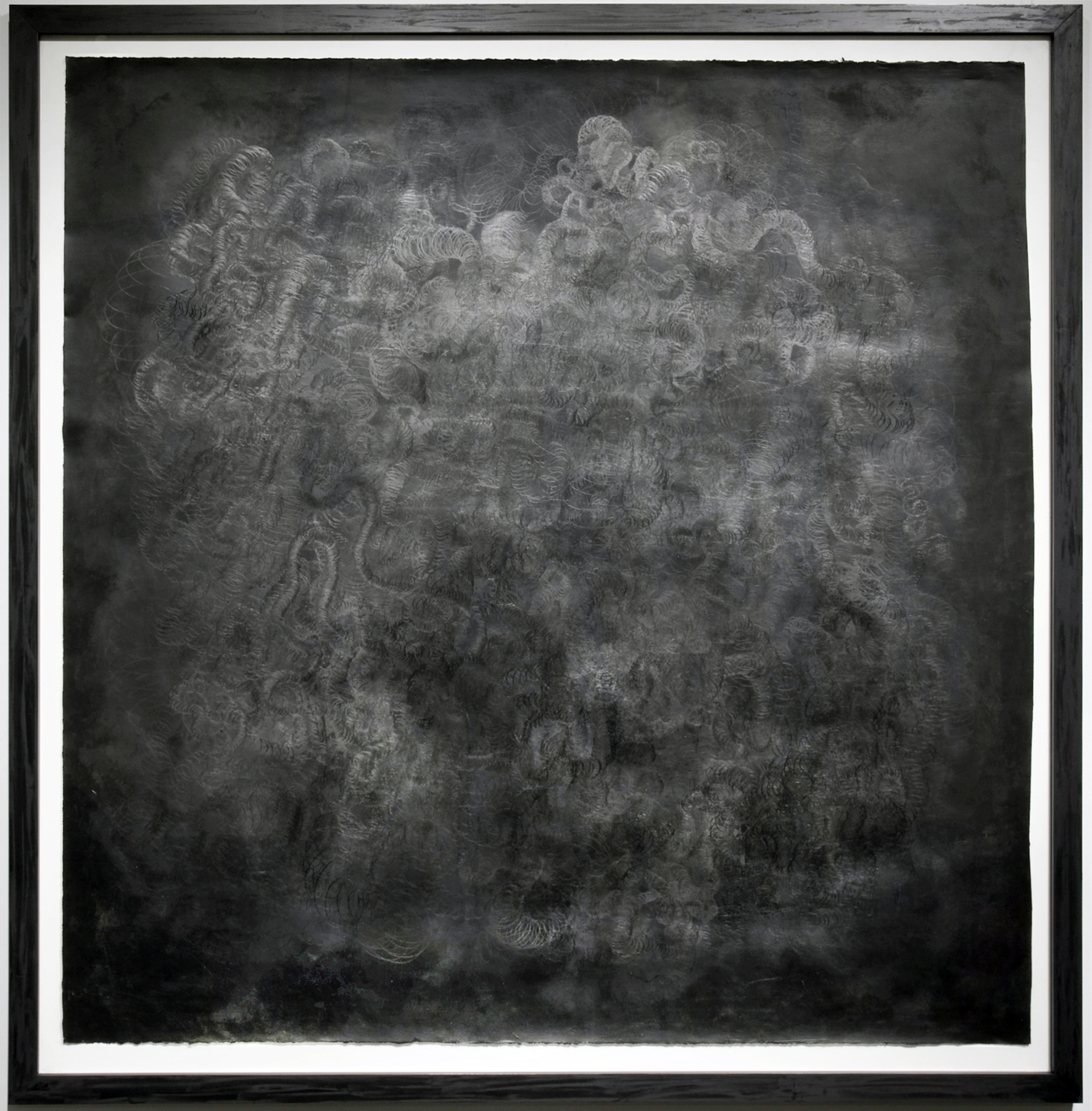 Spatial Apperception , 2010 Soo Sunny Park Shoe polish, paint, graphite on paper  61 x 60 in.  Contact for Price