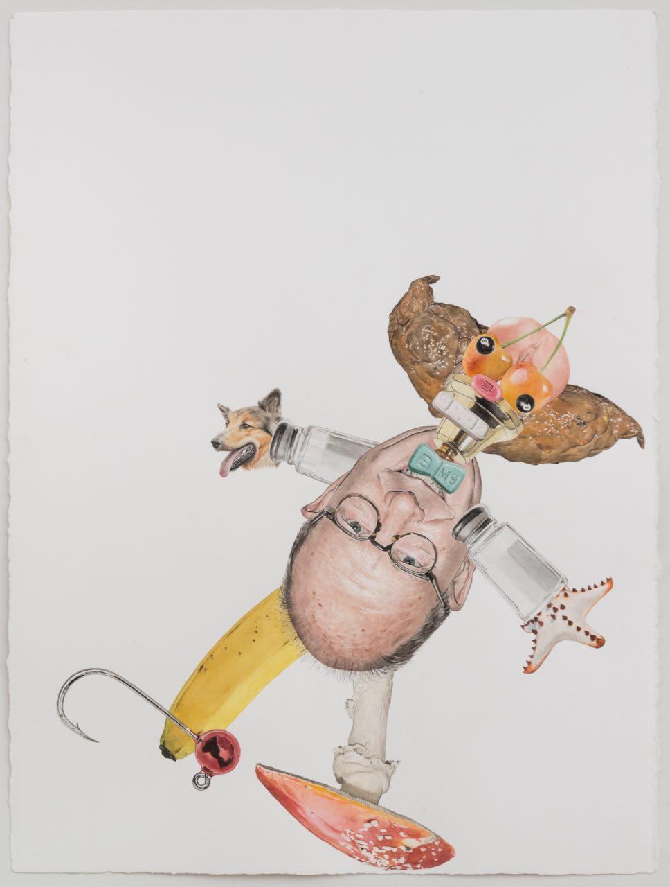 Alfred Steiner<br>Clown (Krusty)<br>32.5 x 25 in. (framed)