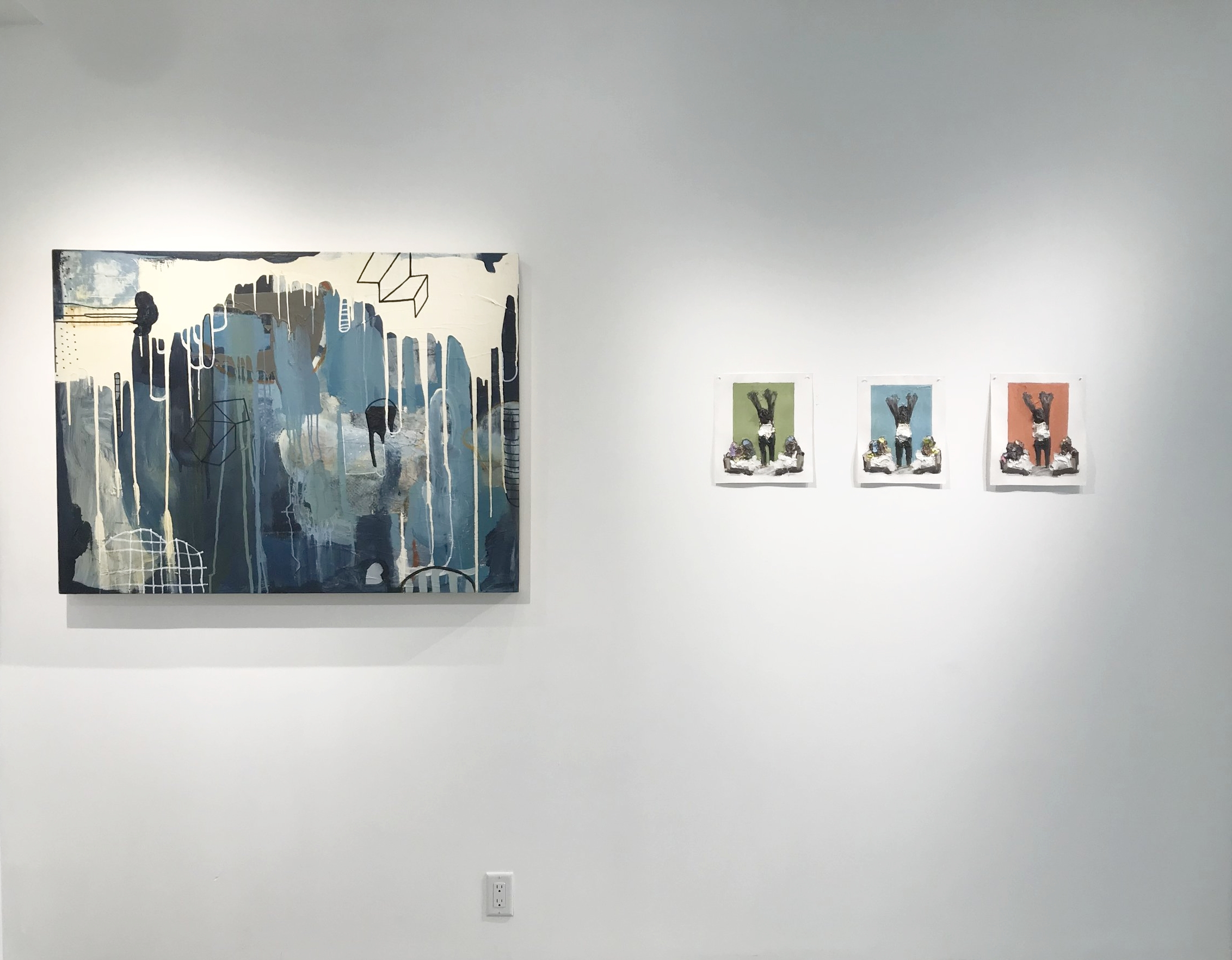 Left: Marie Najera, Over the Waves Right: Lavaughan Jenkins, Untitled 1-3