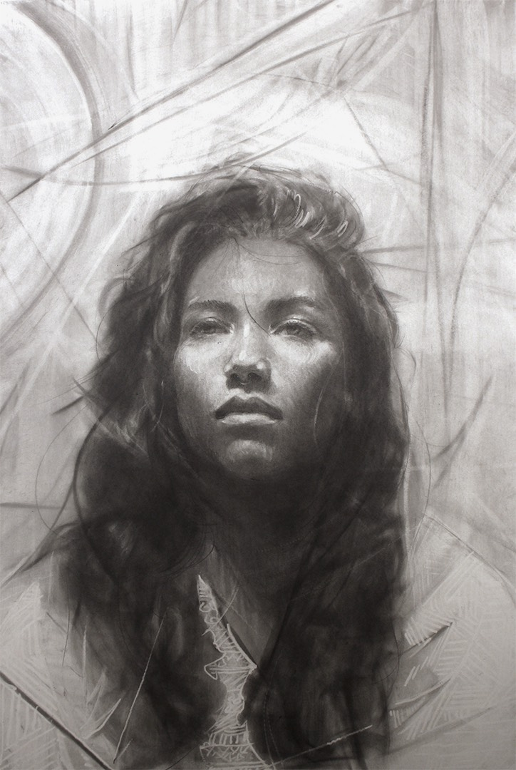 "Tony ""Pronzy"" Perez, ""Rebecca,"" 32 x 23.5 in. Graphite on paper"