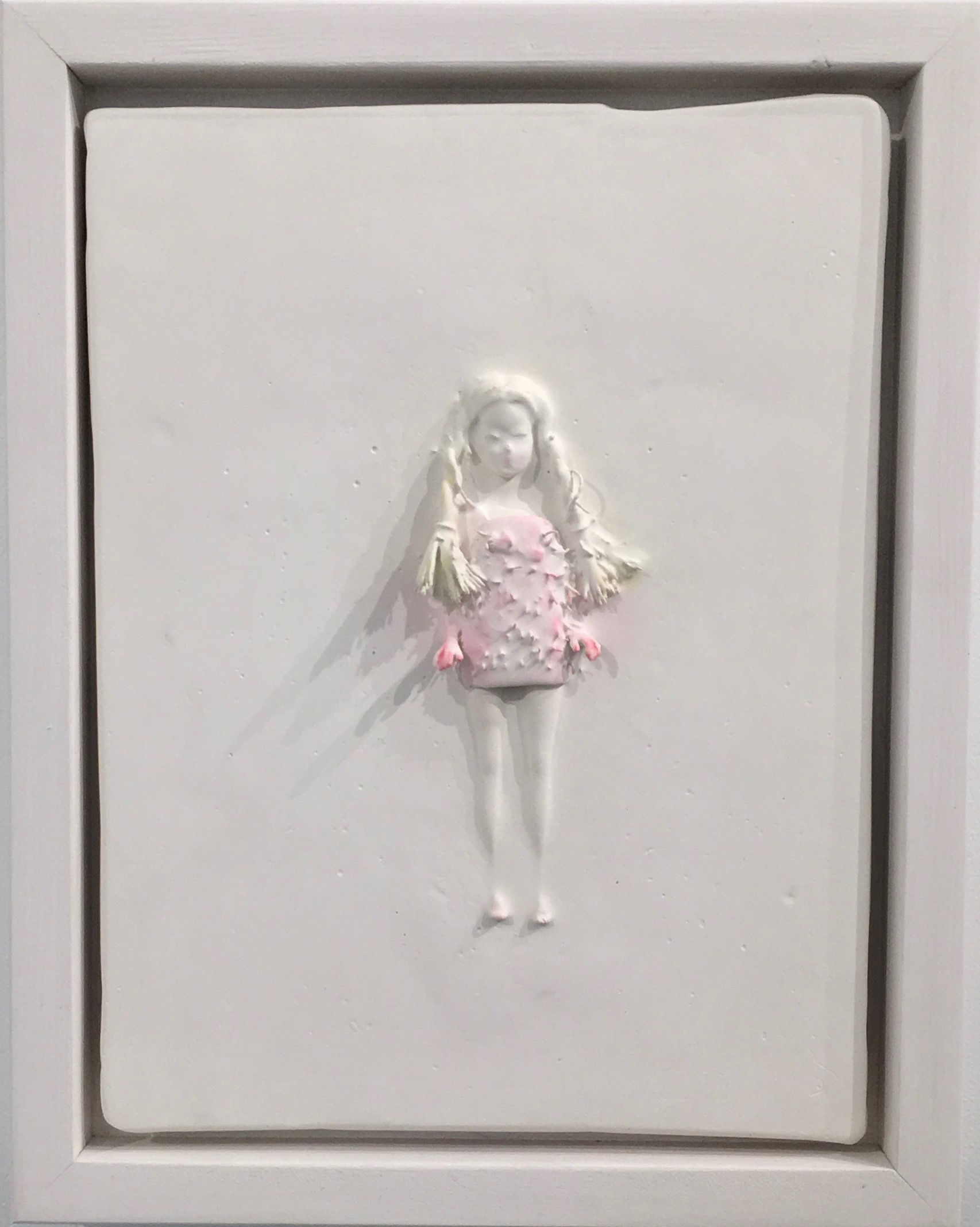 marcy,11 x 9 in.plaster, found object, inks