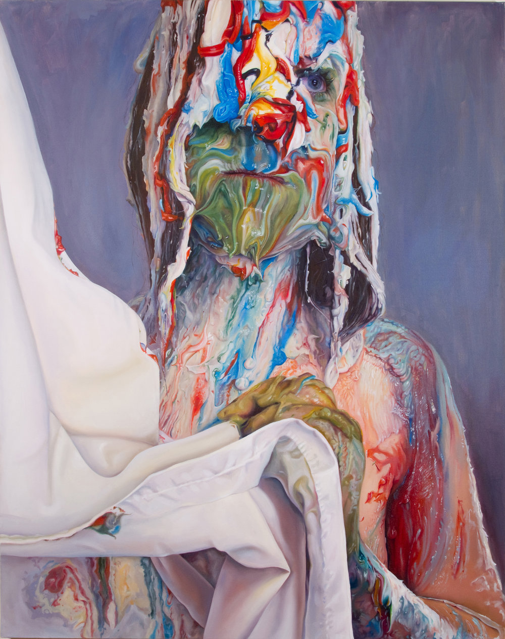 Marisa Adesman. Vertumnus' Bride . oil on canvas. 60 x 48 in.