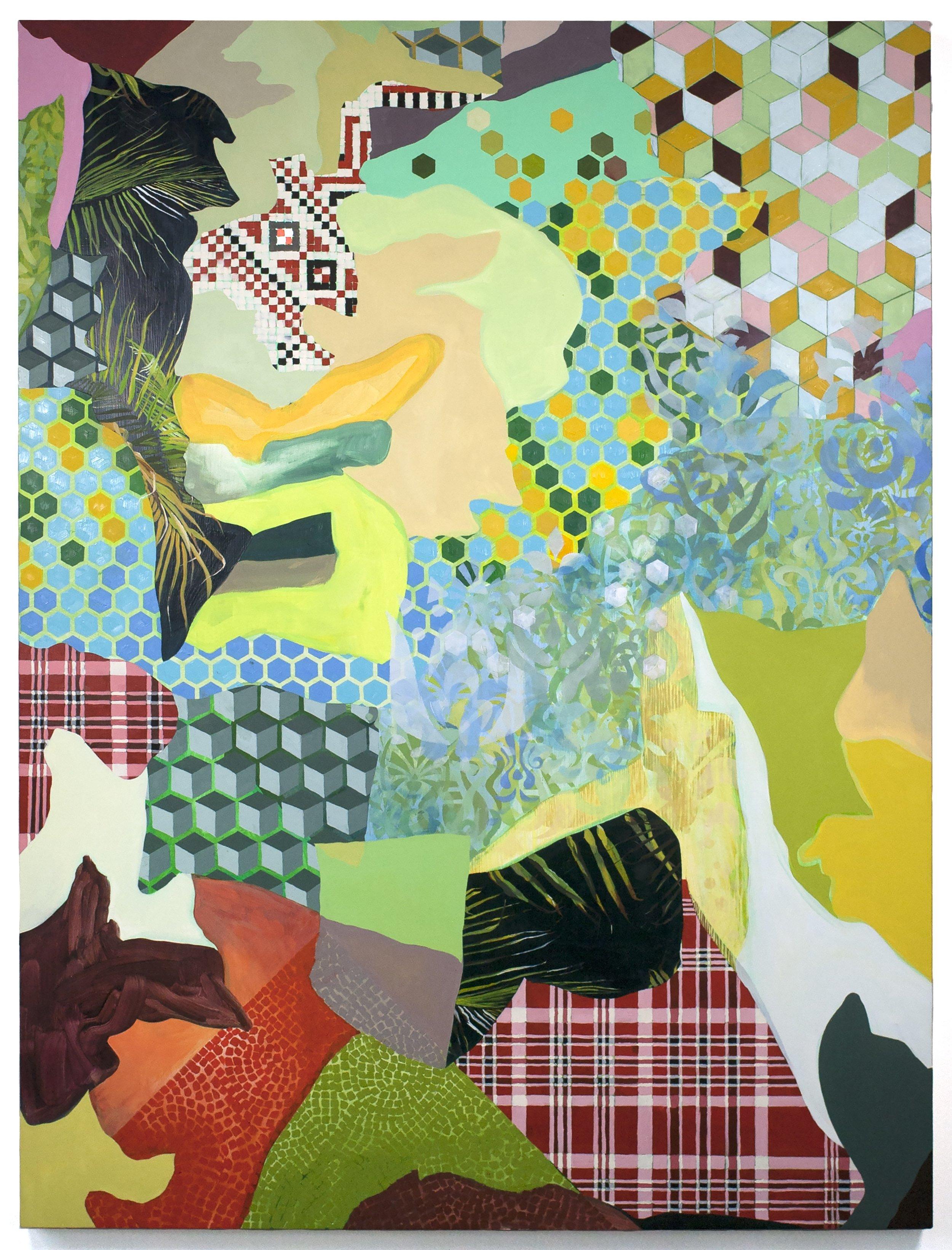 Luca Molnar,  Vesuvius at home  .  Oil on panel. 40 x 30 in.