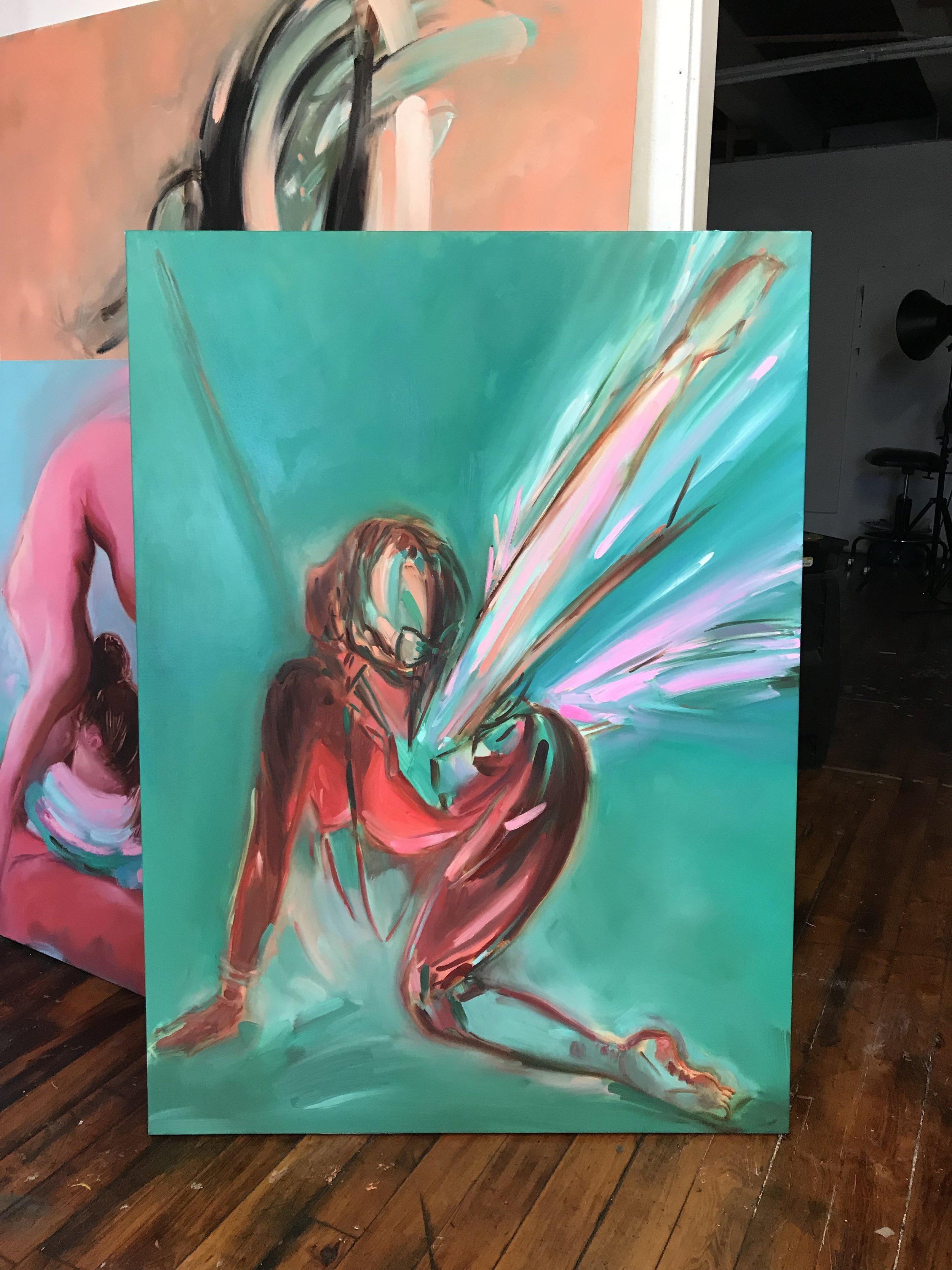 Ariel Basson Freiberg, Pegasus, oil on linen, 48 x 36 in., 2018