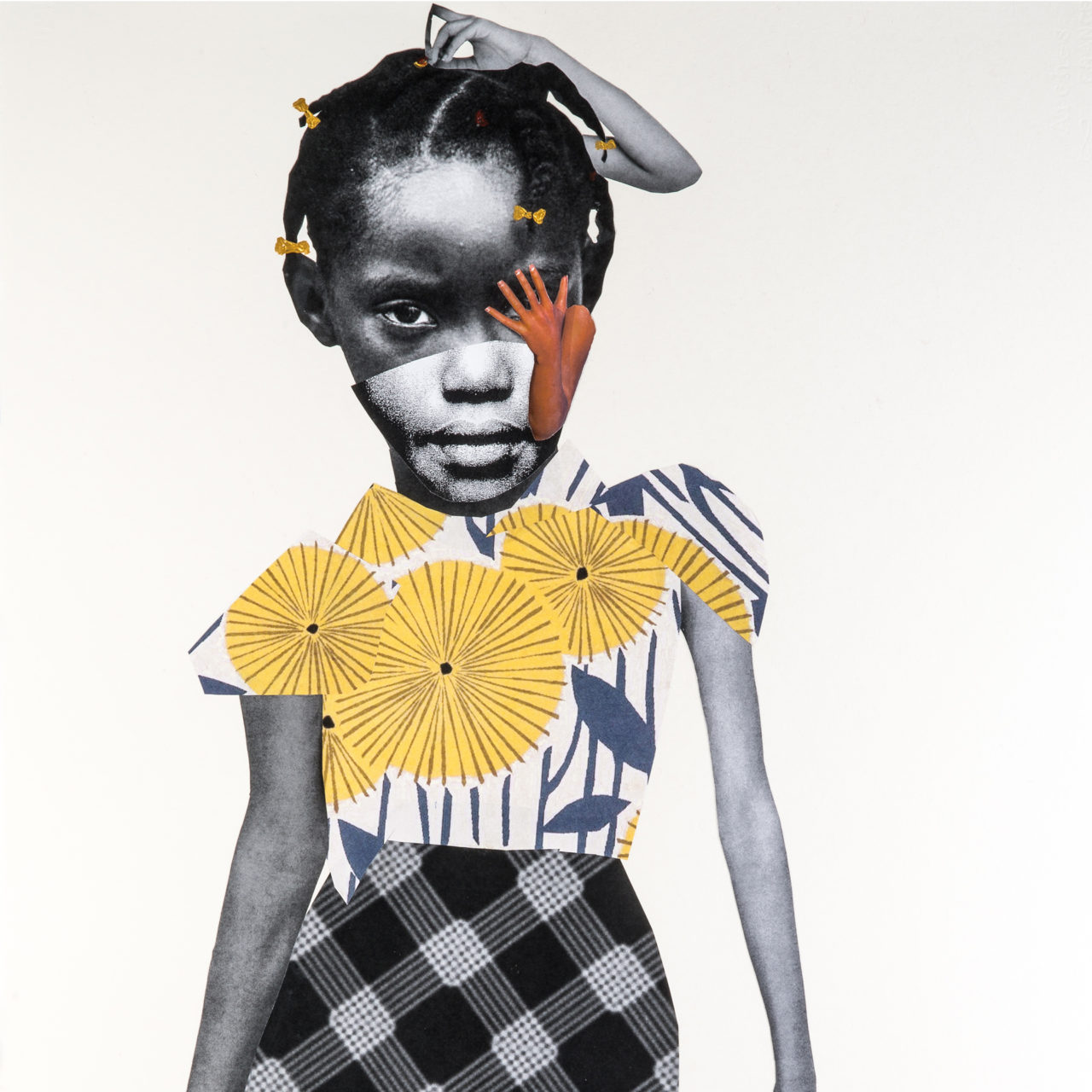 Untitled, 2017 by Deborah Roberts, mixed media on paper, 30 x 22 inches. Photo Credit: Philip Roger. Image courtesy of  MASS MoCA