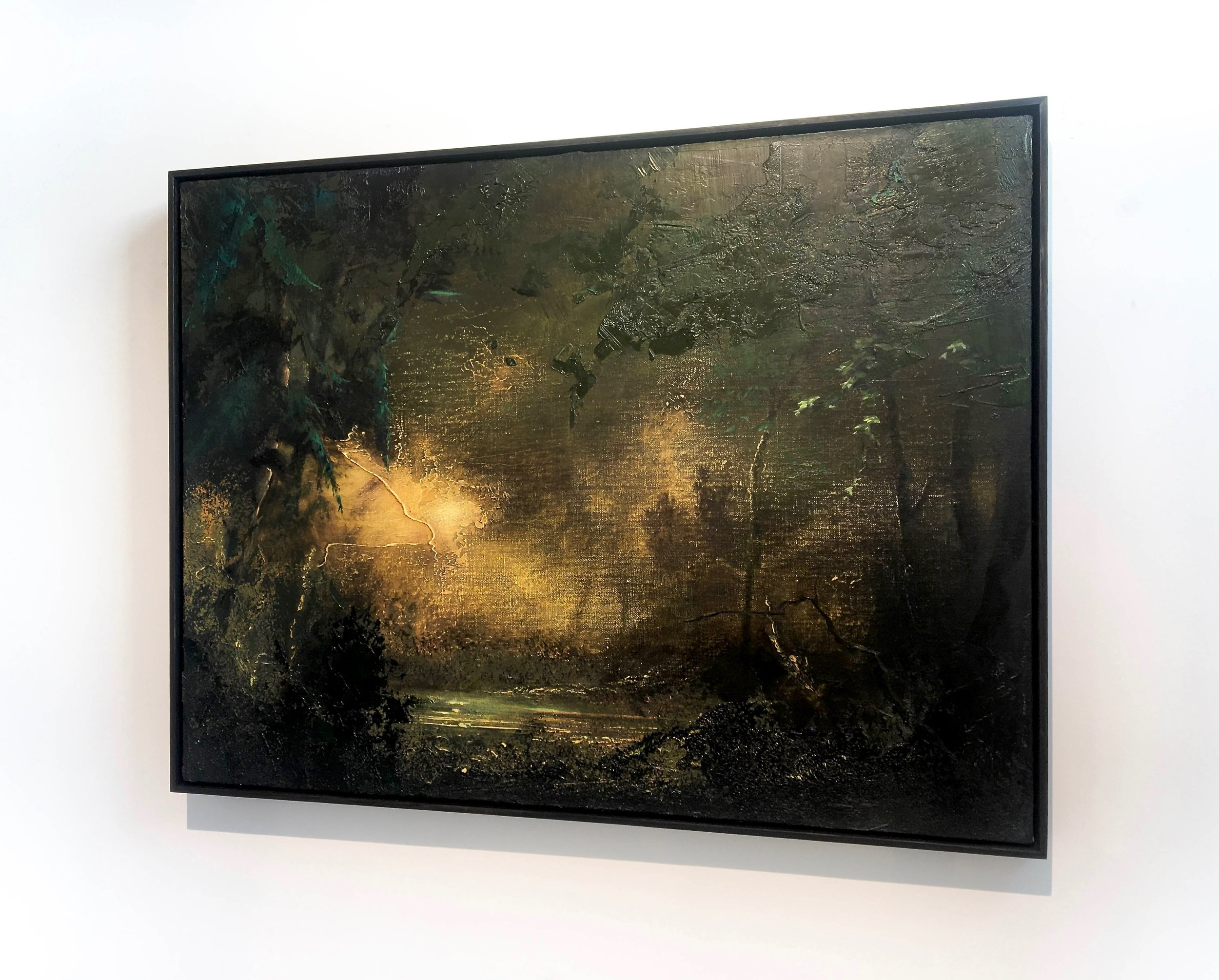 Wilhelm Neusser,   Woods (1530) , 2015/2018, Oil on linen. 24 x 32 in.