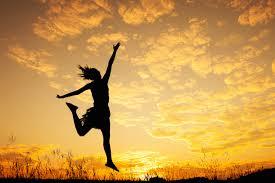 happy jumping feet