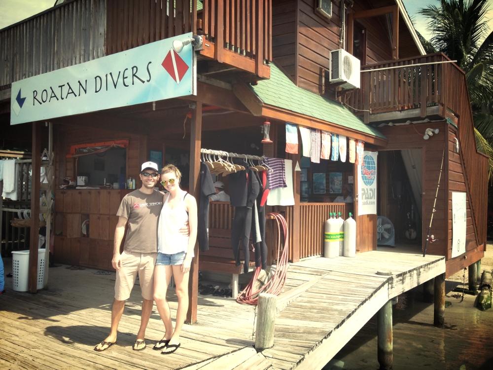 Roatan Divers Open Water course Aaron Claire