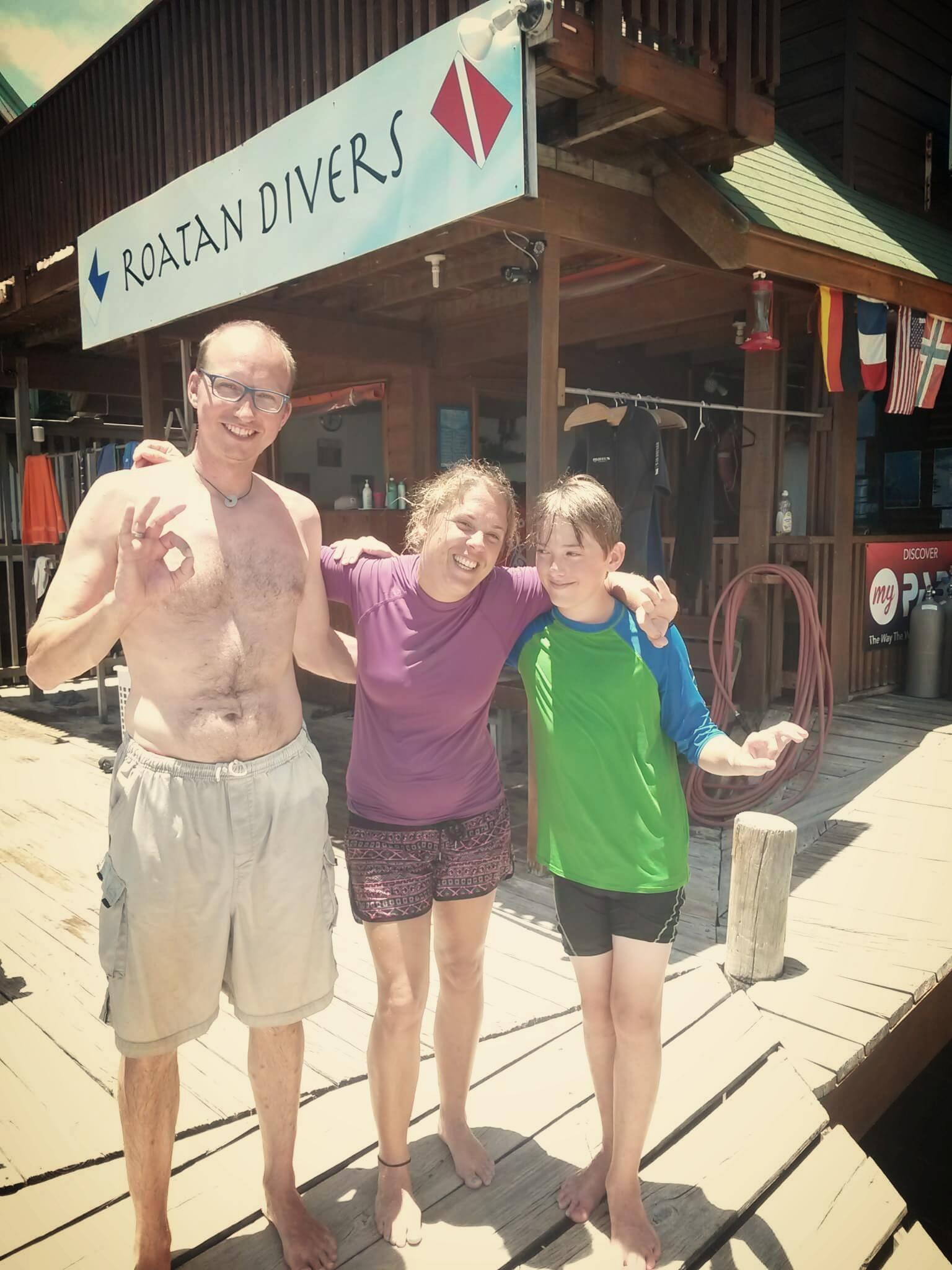 Ascan Niklas PADI Open Water Roatan Divers