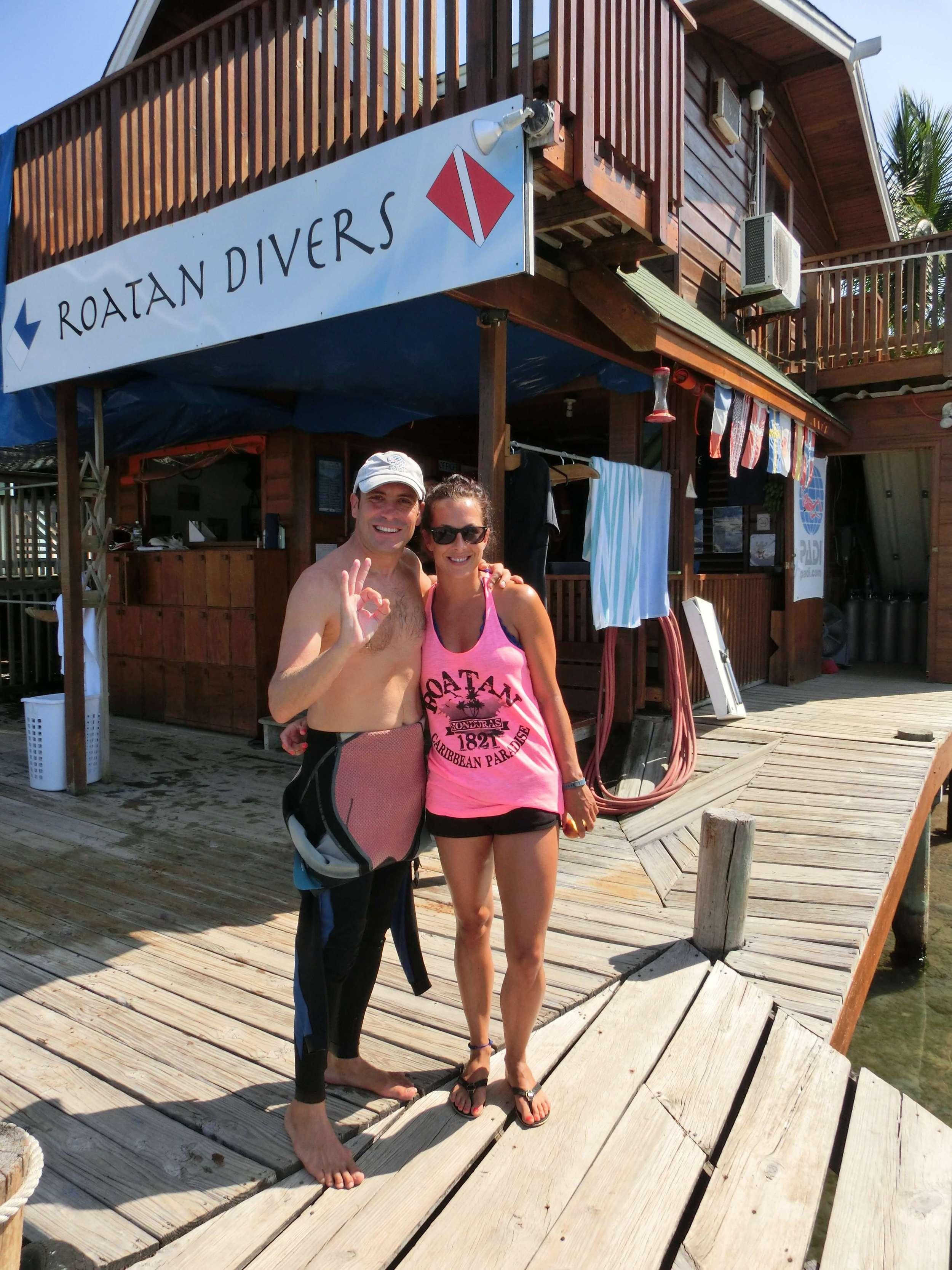 Catrina PADI Open Water Diver Roatan Divers